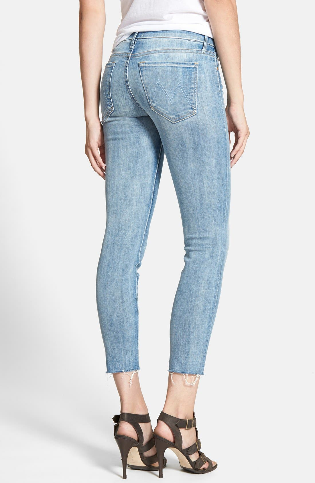 Alternate Image 2  - MOTHER 'The Looker' Frayed Crop Skinny Jeans (Spreading Rumors)