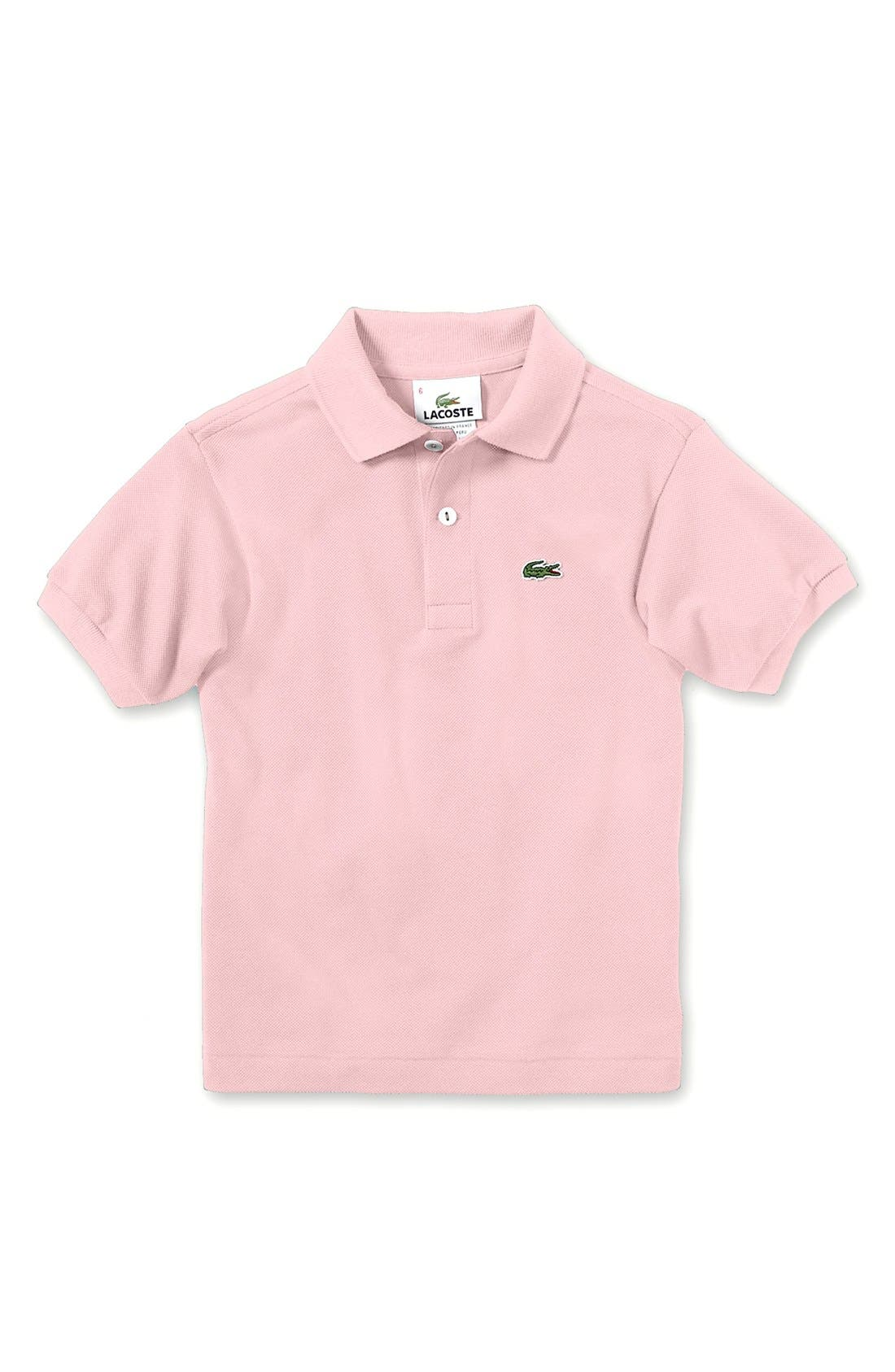 Alternate Image 1 Selected - Lacoste Short Sleeve Polo (Baby Boys)