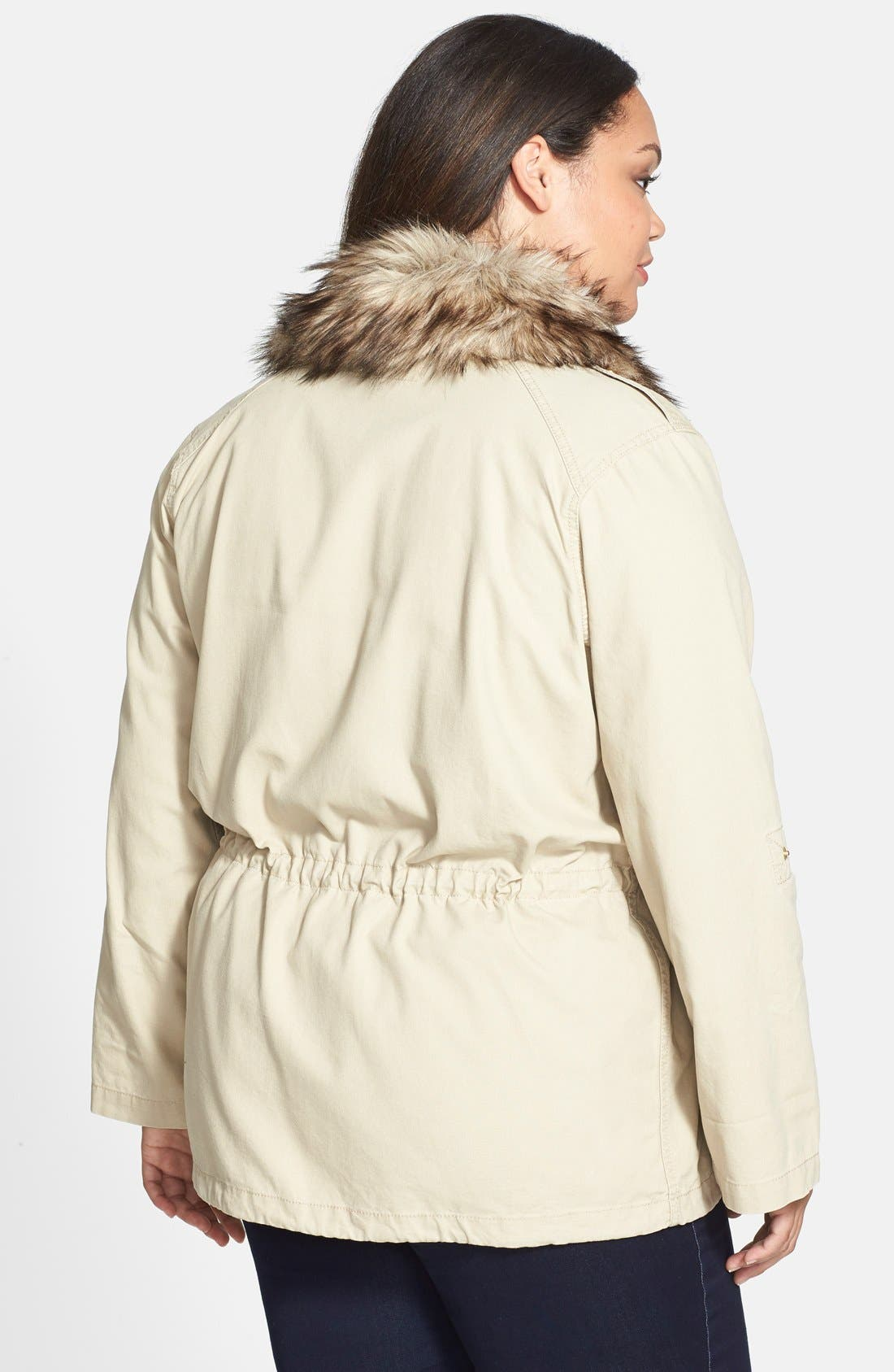 Alternate Image 2  - MICHAEL Michael Kors Faux Fur Collar Anorak (Plus Size)