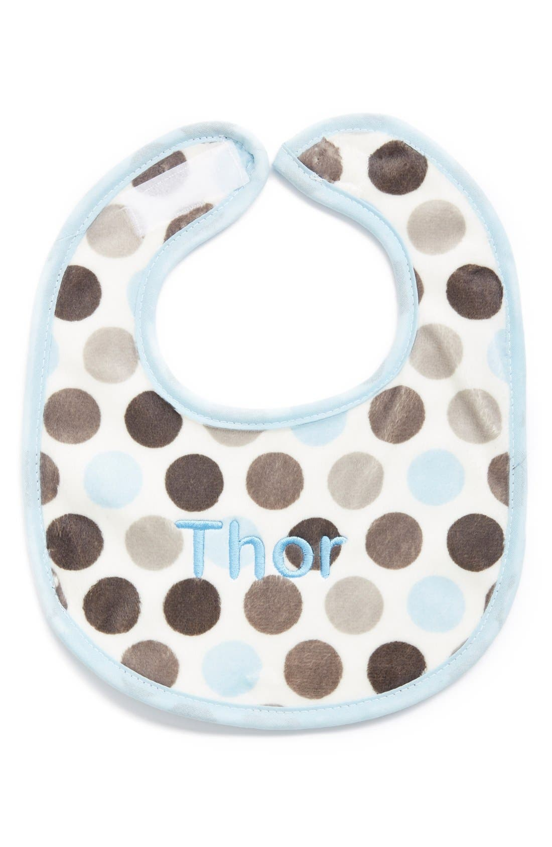 Personalized Bib,                         Main,                         color, Blue Dot