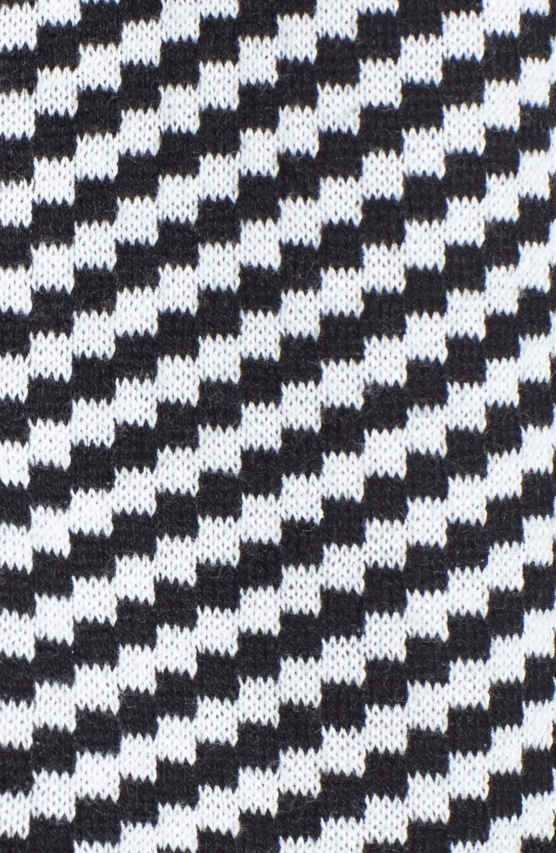 Alternate Image 3  - Two by Vince Camuto Houndstooth Front Jacquard Sweater