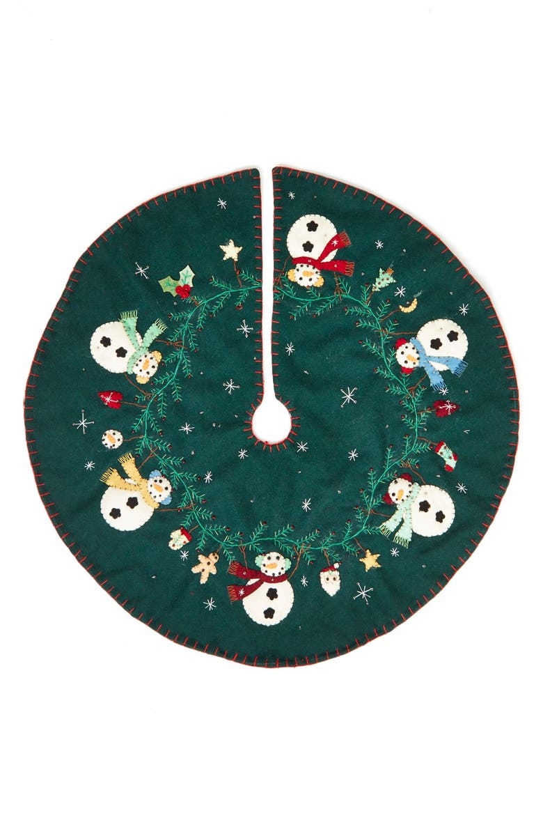 New World Arts Snowman Christmas Tree Skirt | Nordstrom