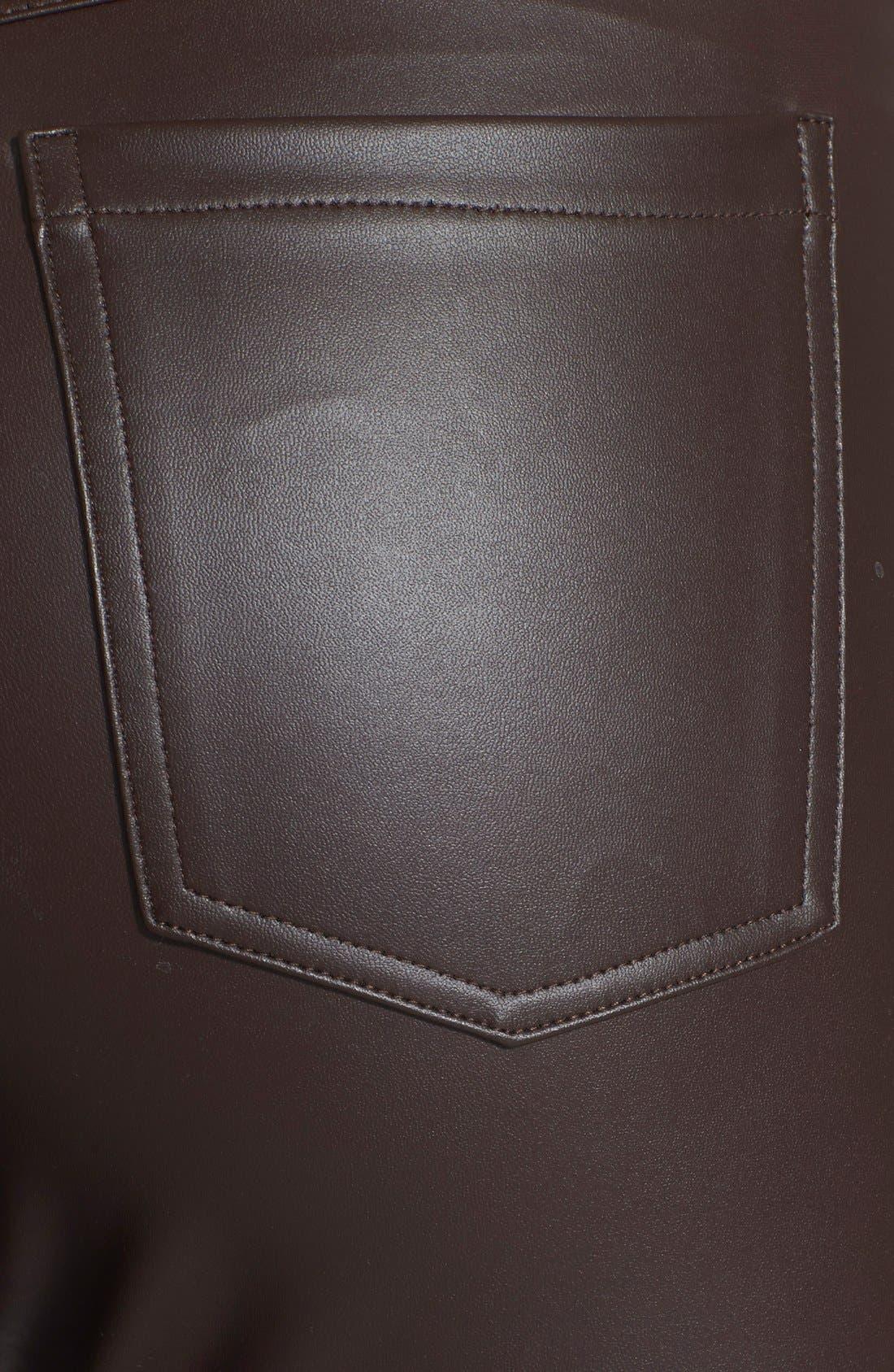 Alternate Image 3  - Hue 'Leatherette' Leggings