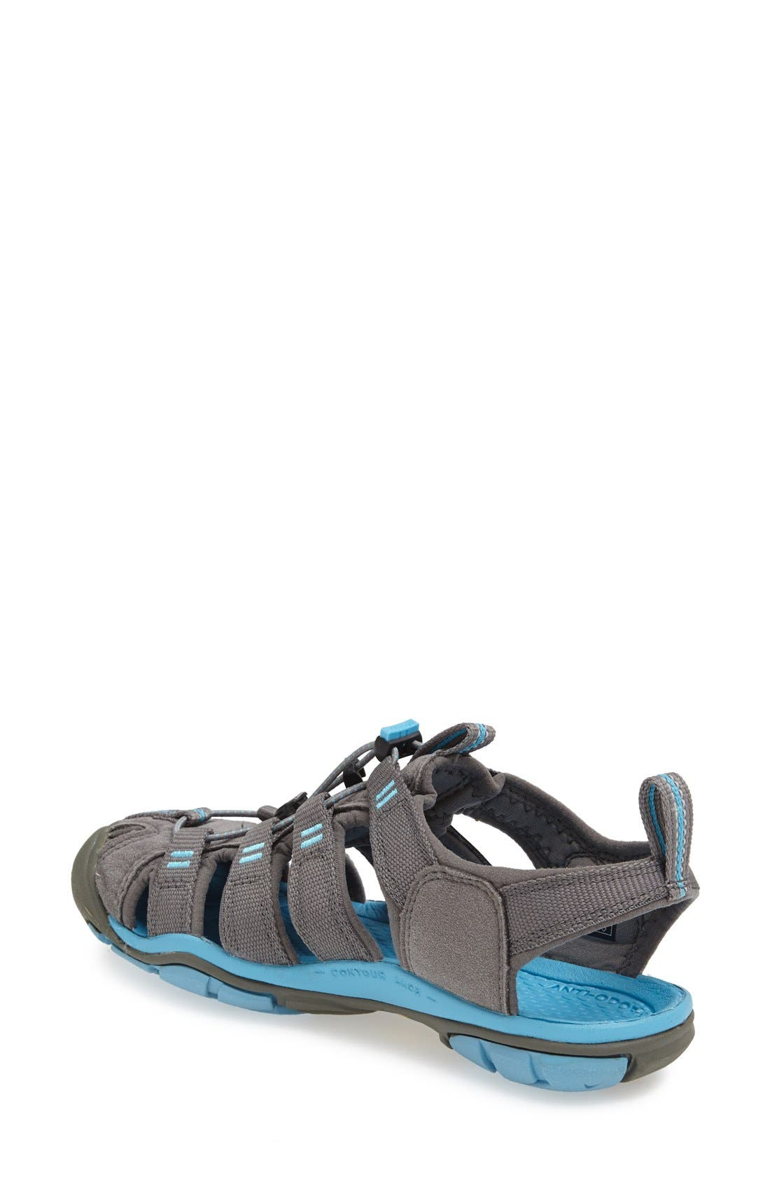 'Clearwater CNX' Sandal,                             Alternate thumbnail 2, color,                             Gargoyle/ Norse Blue