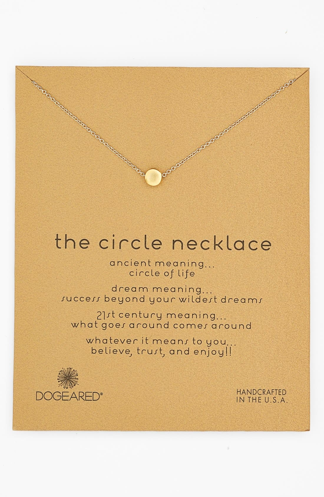 Main Image - Dogeared 'Reminder - The Circle' Pendant Necklace