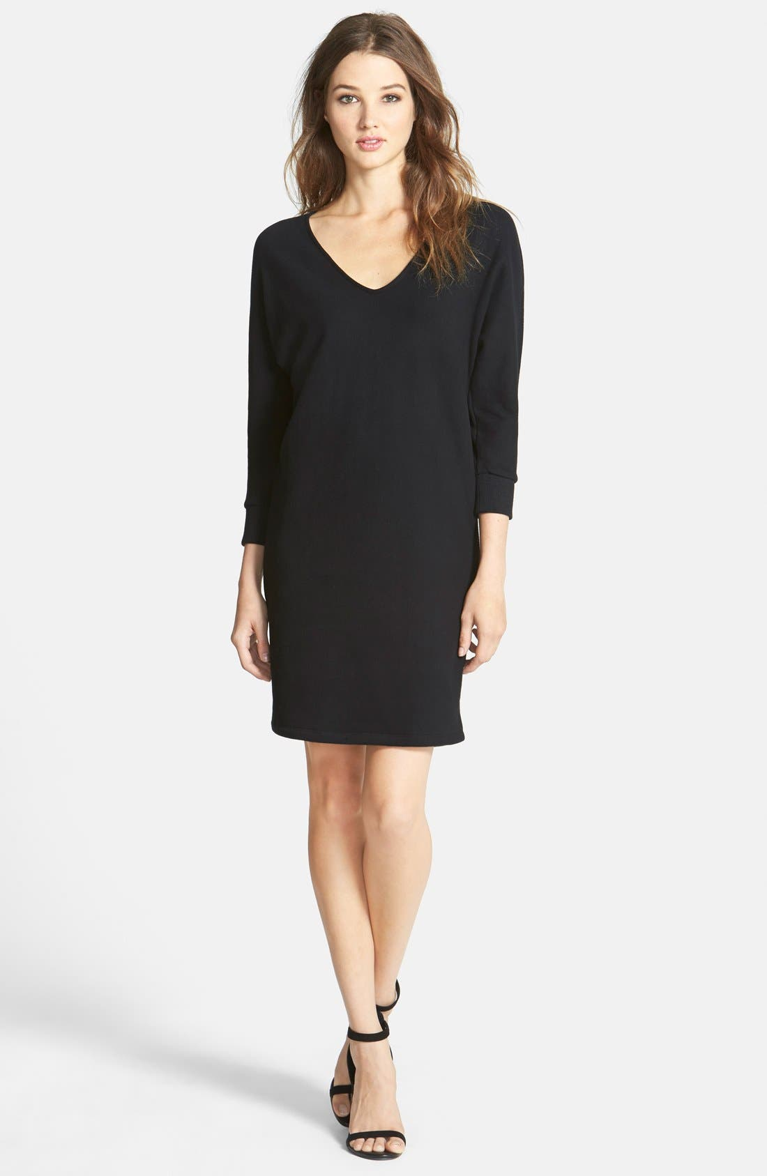 Alternate Image 1 Selected - James Perse Brushed Fleece Dress