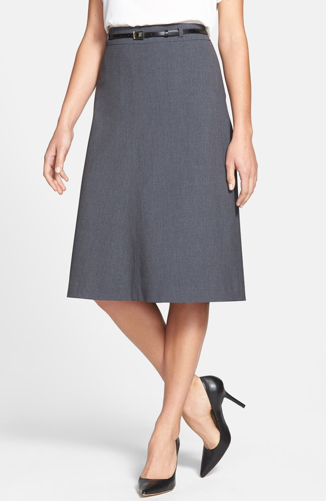 Main Image - Jones New York 'Isabel' Belted Boot Skirt