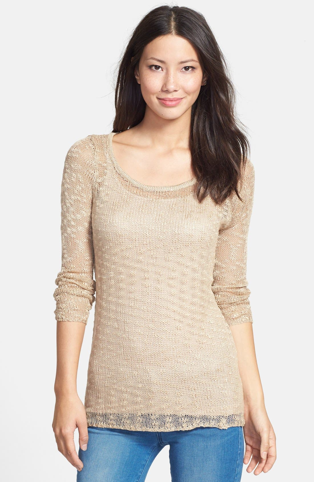 Alternate Image 1 Selected - Nikki Rich Open Stitch Sweater