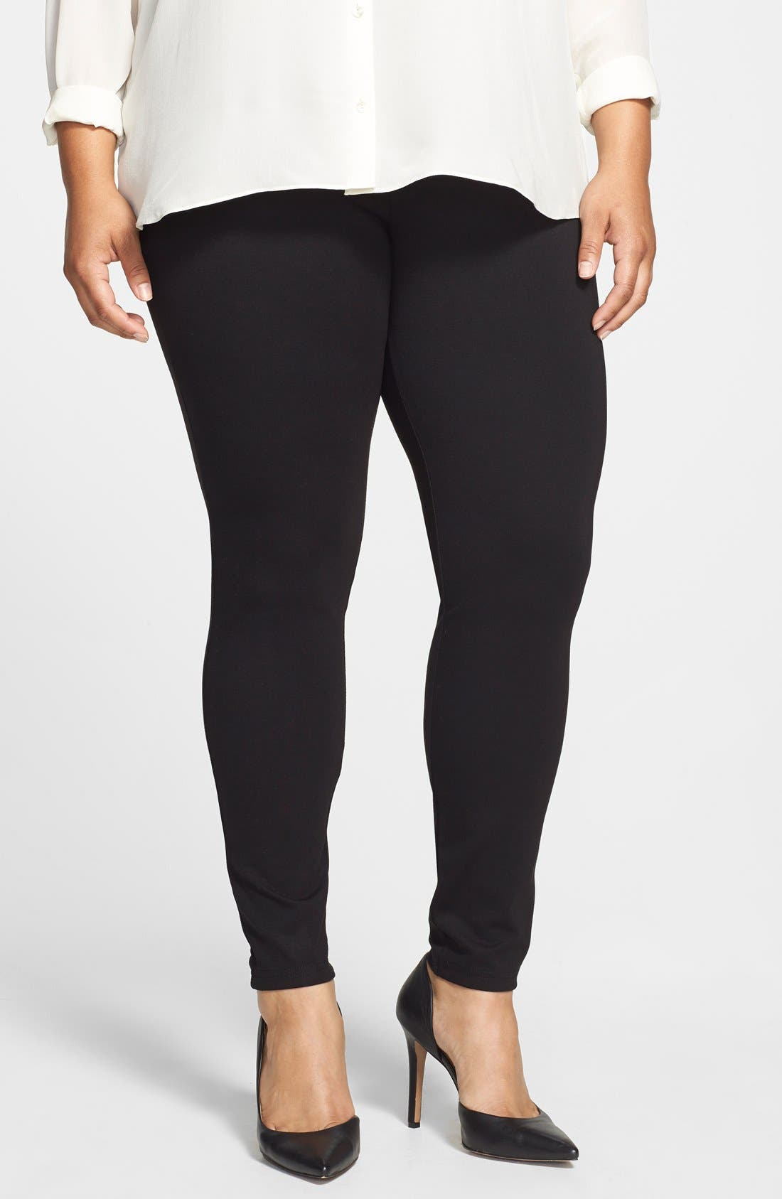 Alternate Image 1 Selected - Hue Ponte Knit Leggings (Plus Size)