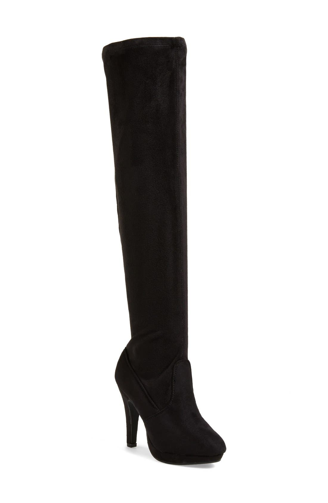 REPORT 'Nadya' Over The Knee Boot,                             Main thumbnail 1, color,                             Black