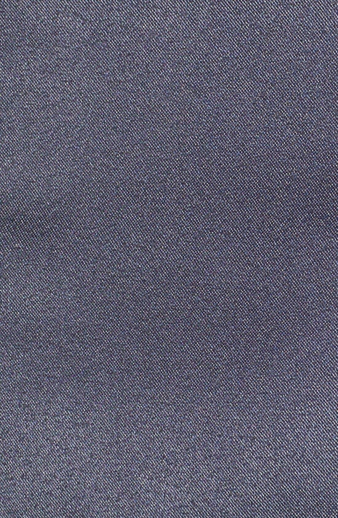 High Waist Satin Shorts,                             Alternate thumbnail 3, color,                             Navy
