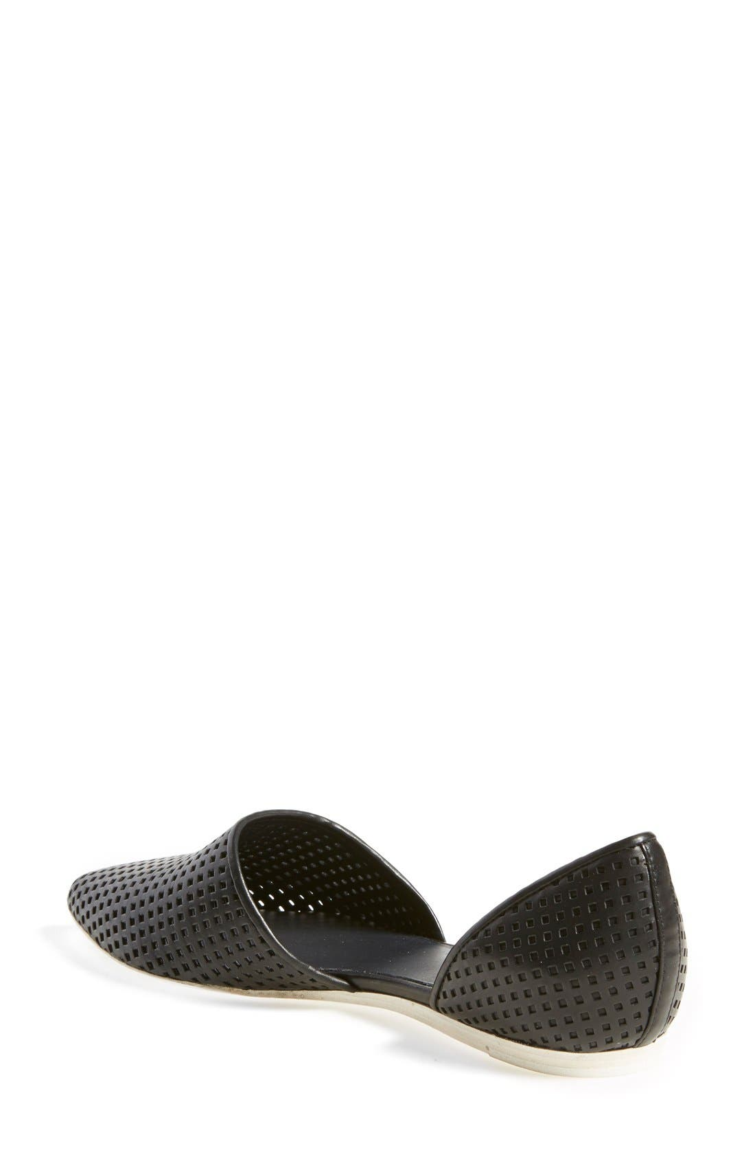 Alternate Image 2  - Vince 'Nina 2' Perforated Leather D'Orsay Flat (Women)