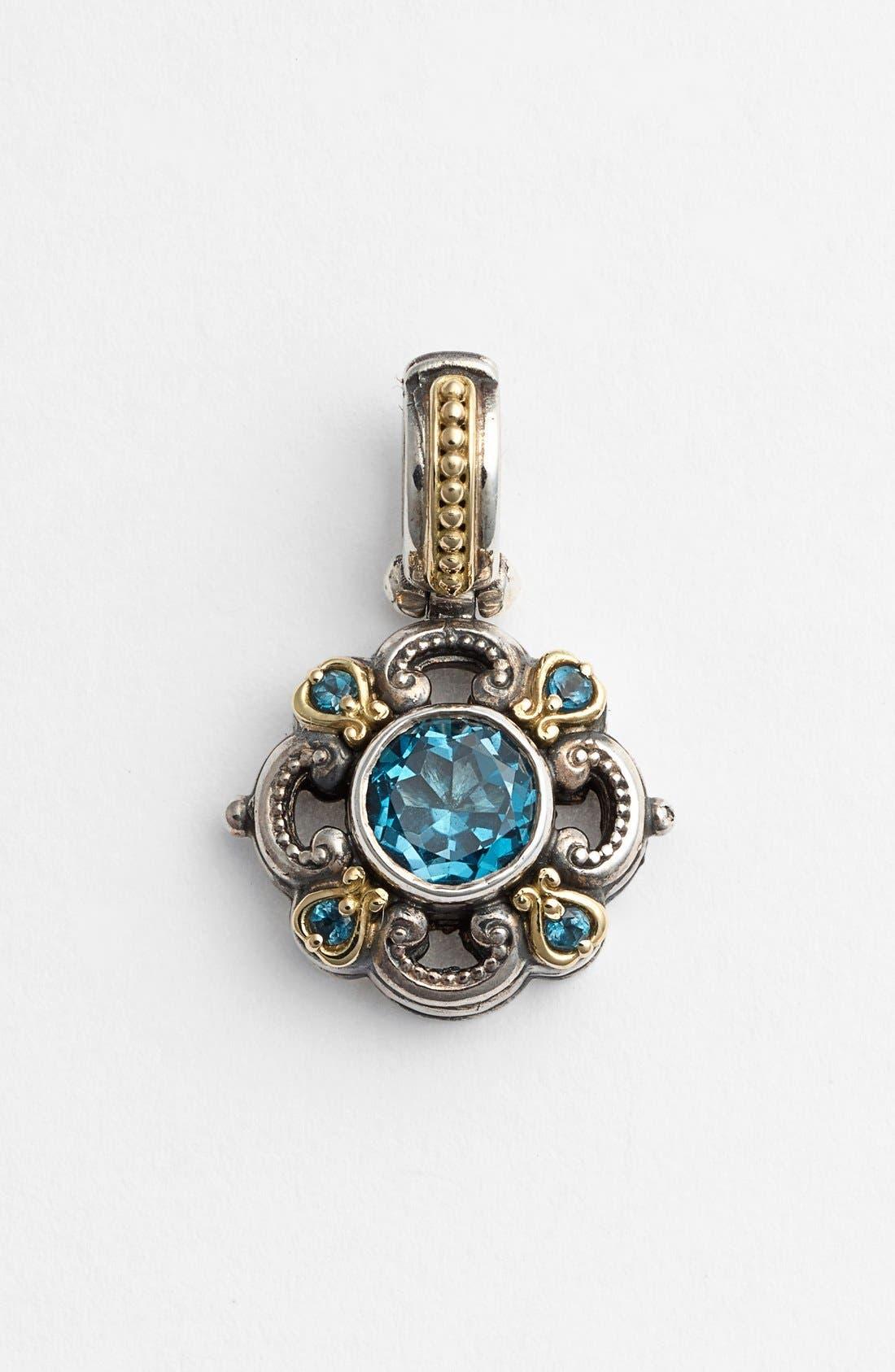 'Hermione' Pendant,                         Main,                         color, Silver/ Blue Topaz