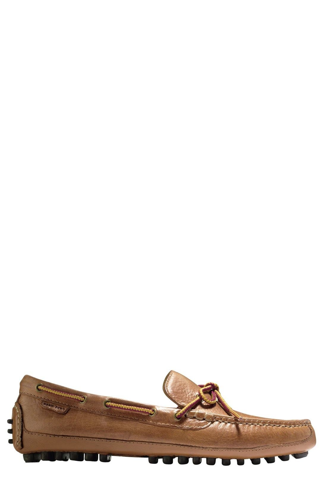 'Grant Canoe Camp' Driving Moccasin,                             Alternate thumbnail 3, color,                             British Tan