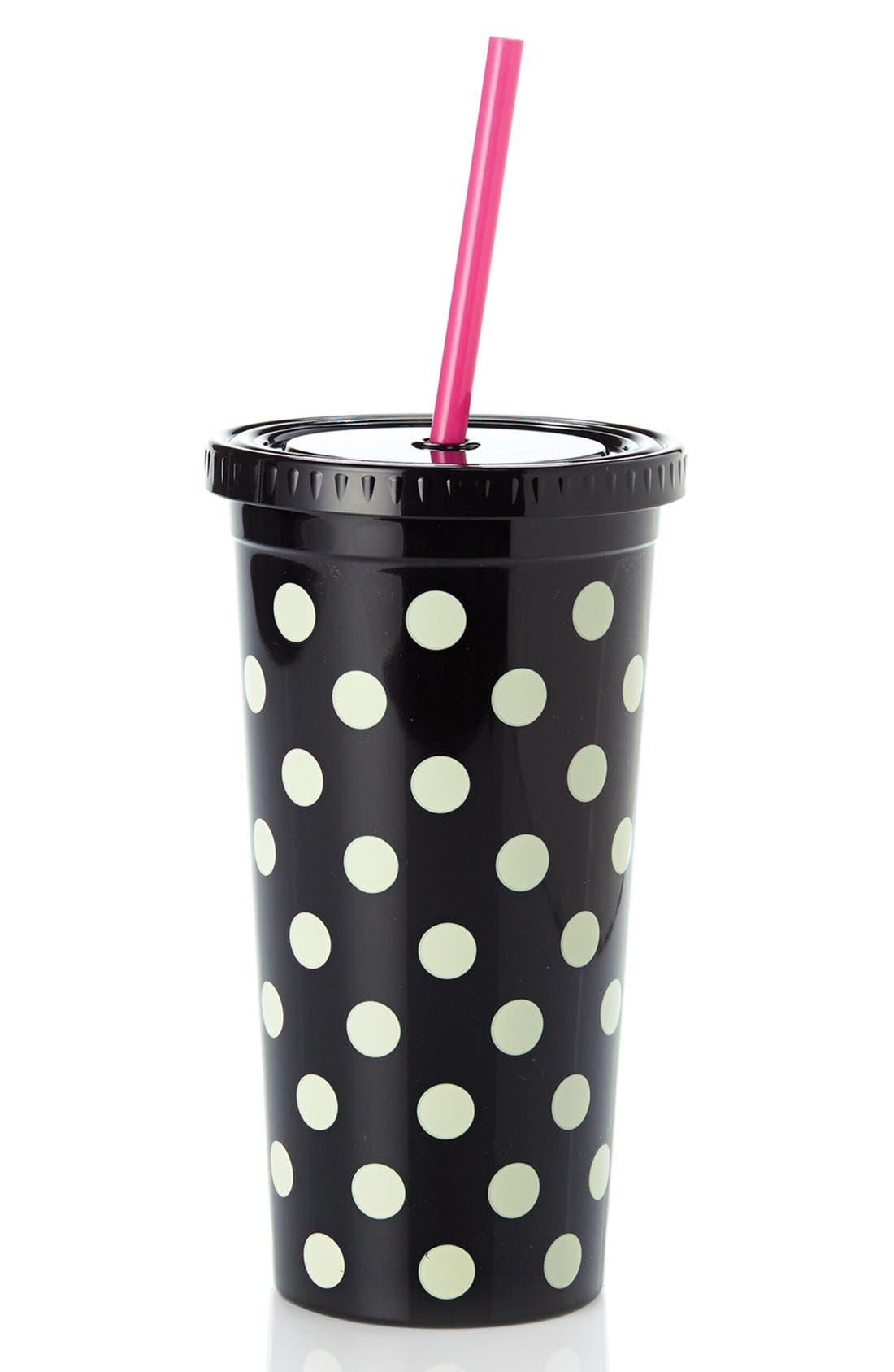 Alternate Image 1 Selected - kate spade new york dot insulated tumbler