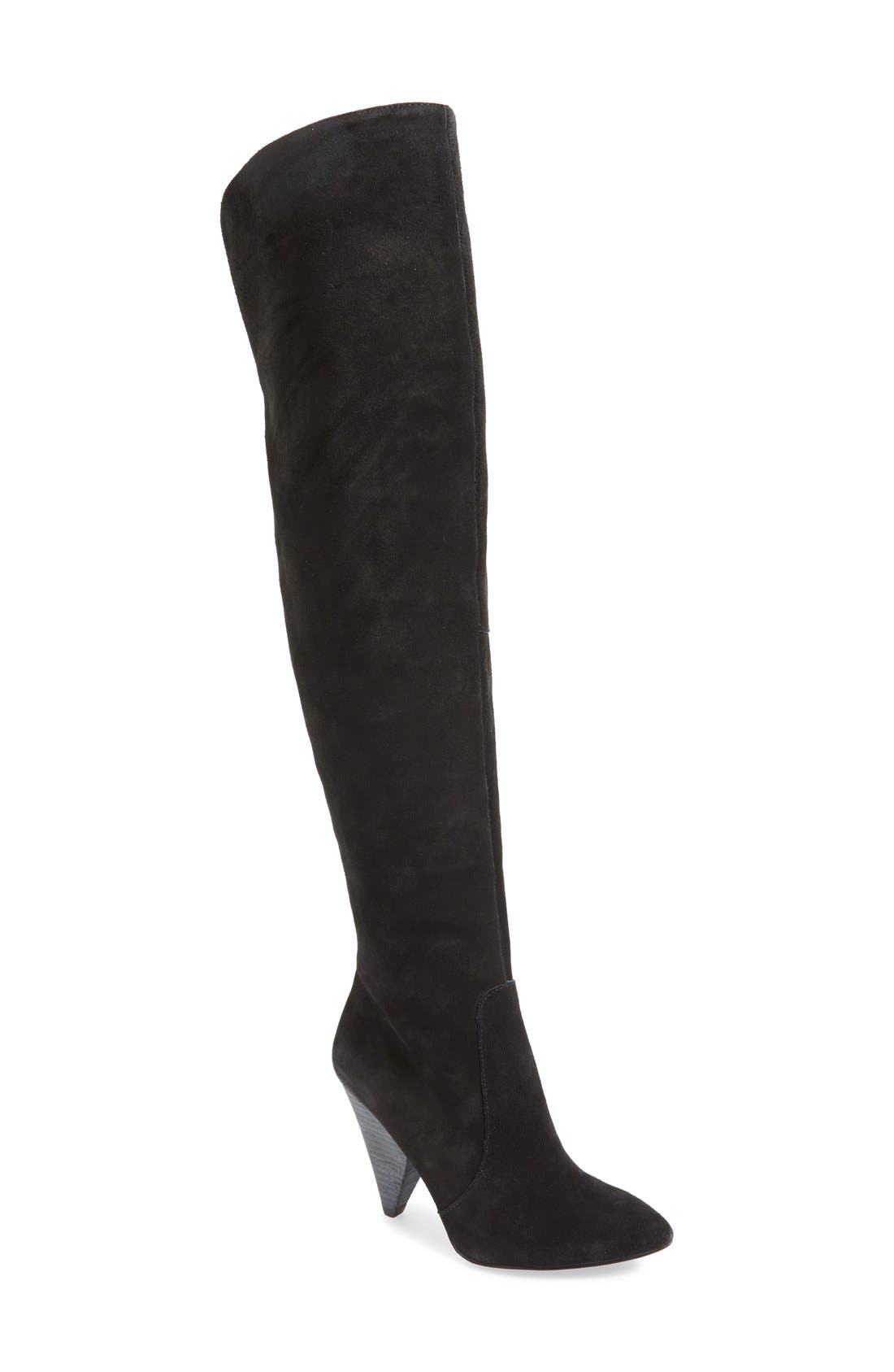 Main Image - Vince Camuto 'Hollie' Over the Knee Pointy Toe Suede Boot (Women)