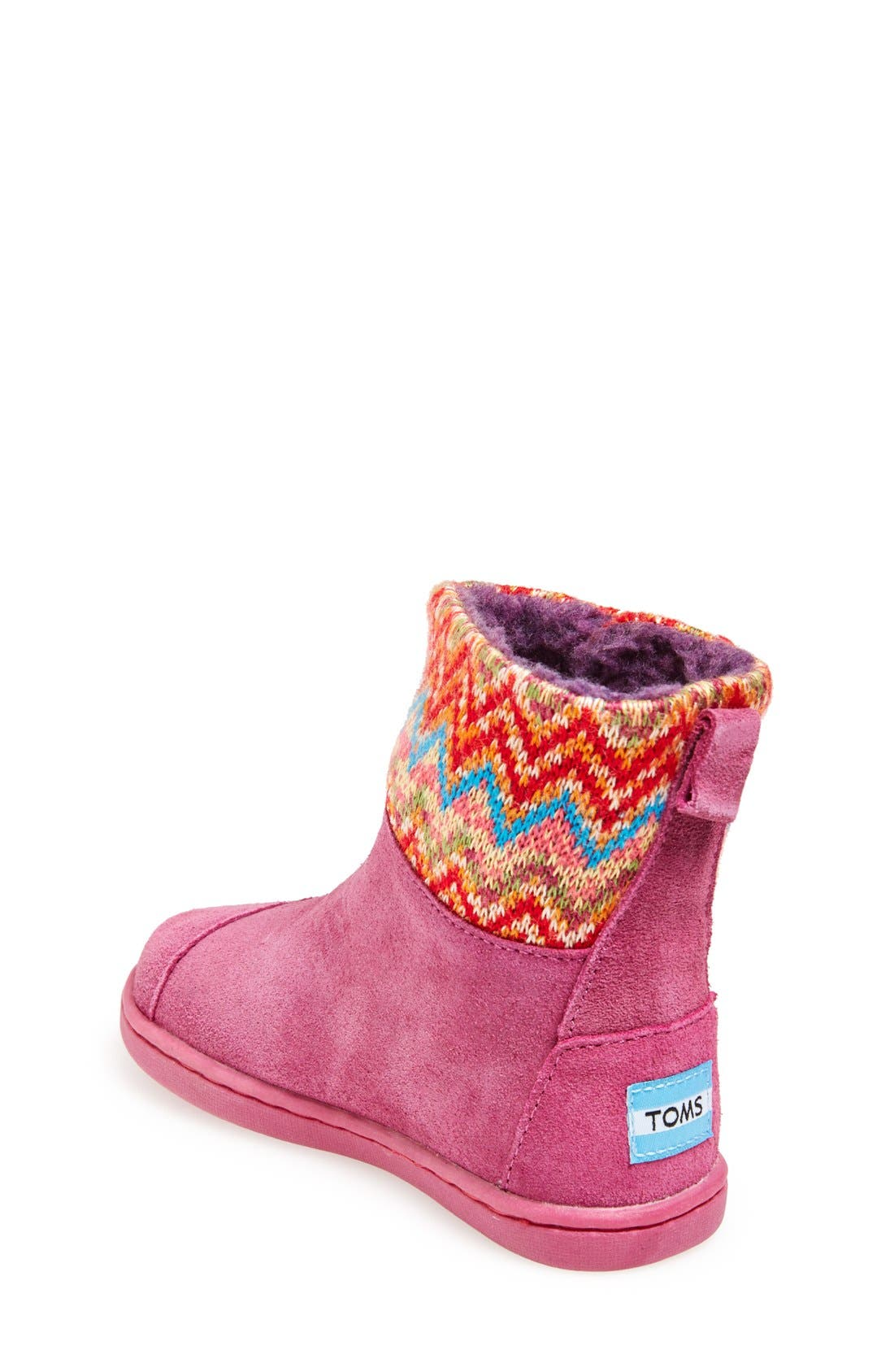 'Nepal - Tiny' Boot,                             Alternate thumbnail 2, color,                             Pink Multi Zigzag