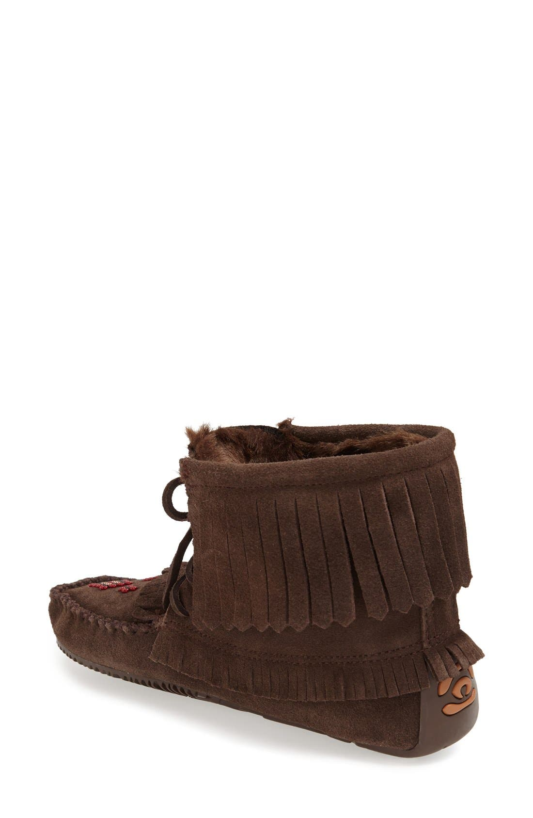 'Harvester' Moccasin,                             Alternate thumbnail 2, color,                             Chocolate
