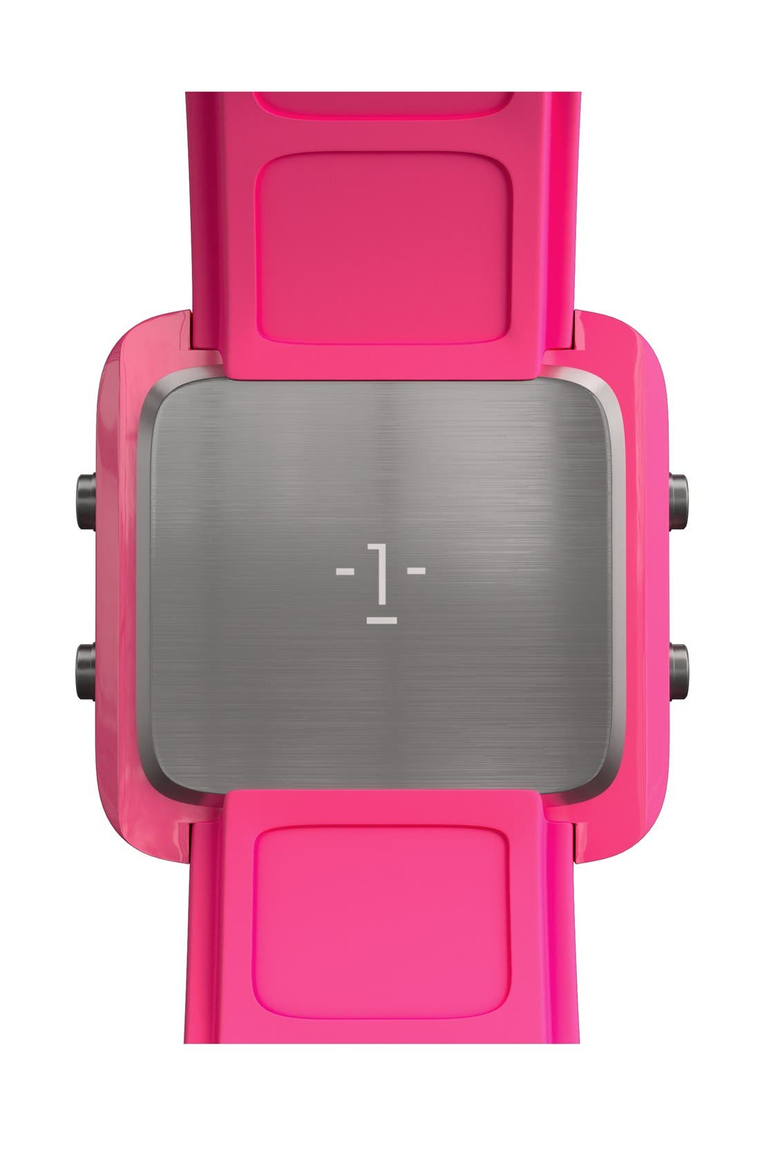Alternate Image 6  - 1:Face 'Breast Cancer' Square Digital Silicone Strap Watch, 38mm