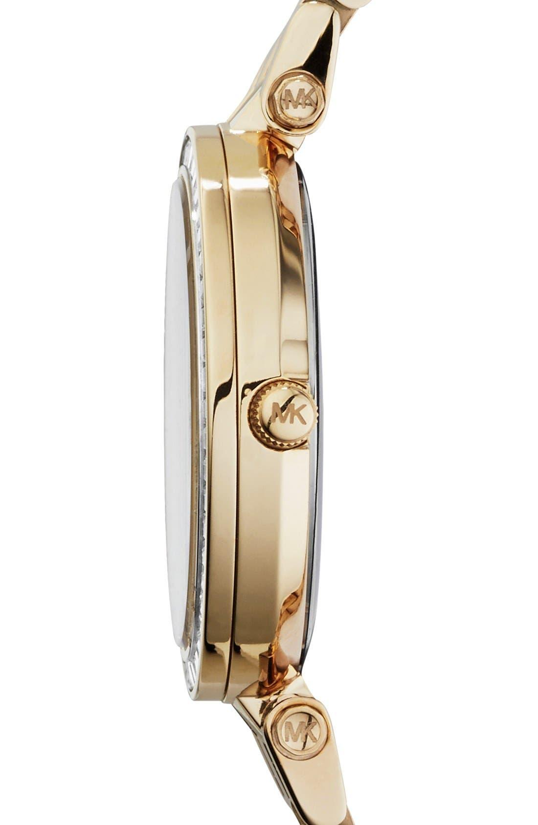 'Mini Darci' Round Bracelet Watch, 33mm,                             Alternate thumbnail 3, color,                             Gold