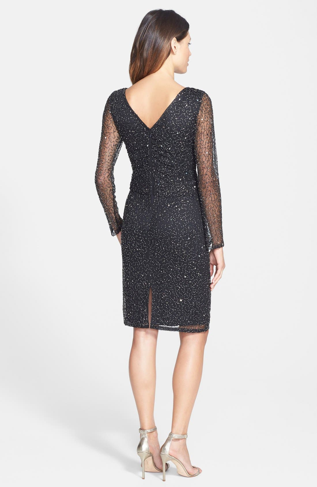 Alternate Image 2  - Patra Beaded Mesh Sheath Dress