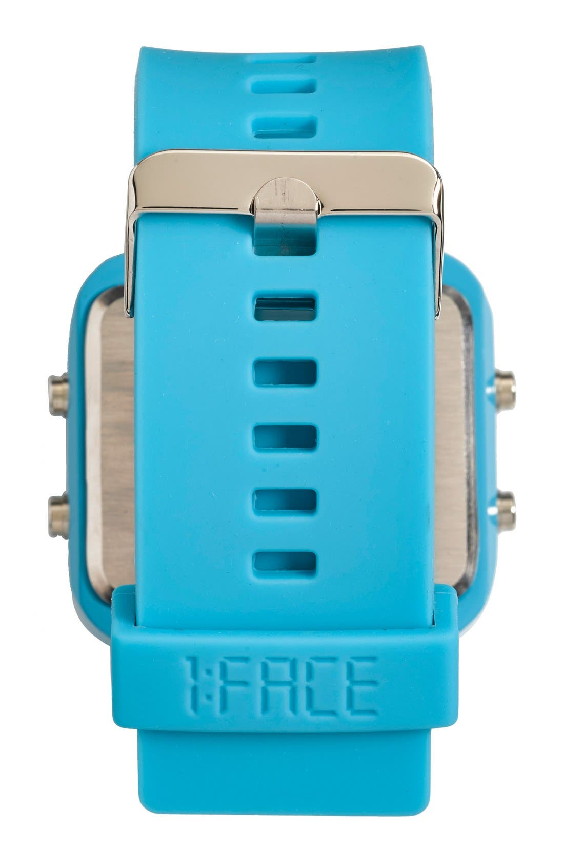 Alternate Image 4  - 1:Face 'Environment' Square Digital Silicone Strap Watch, 38mm