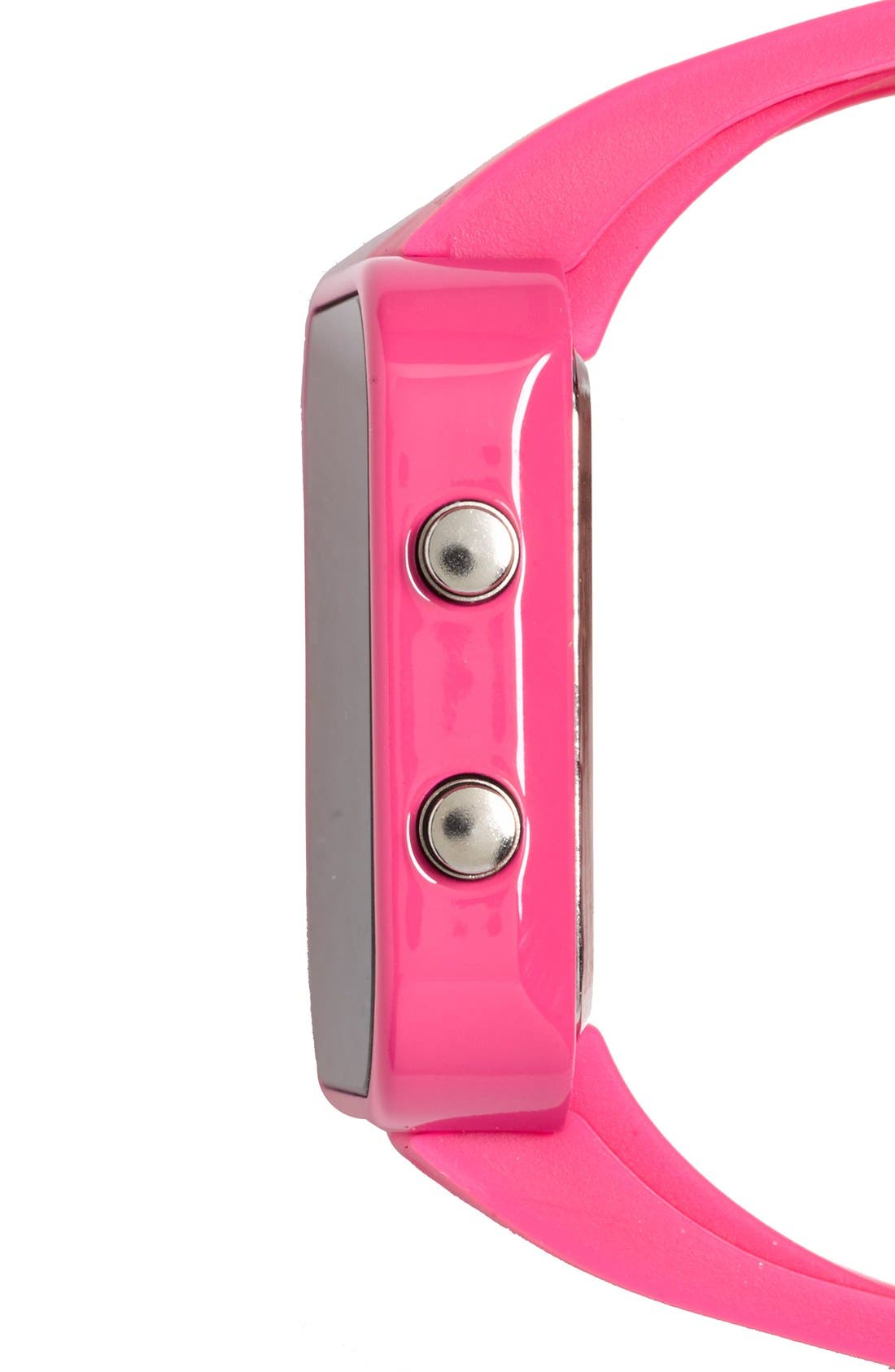 Alternate Image 5  - 1:Face 'Breast Cancer' Square Digital Silicone Strap Watch, 38mm