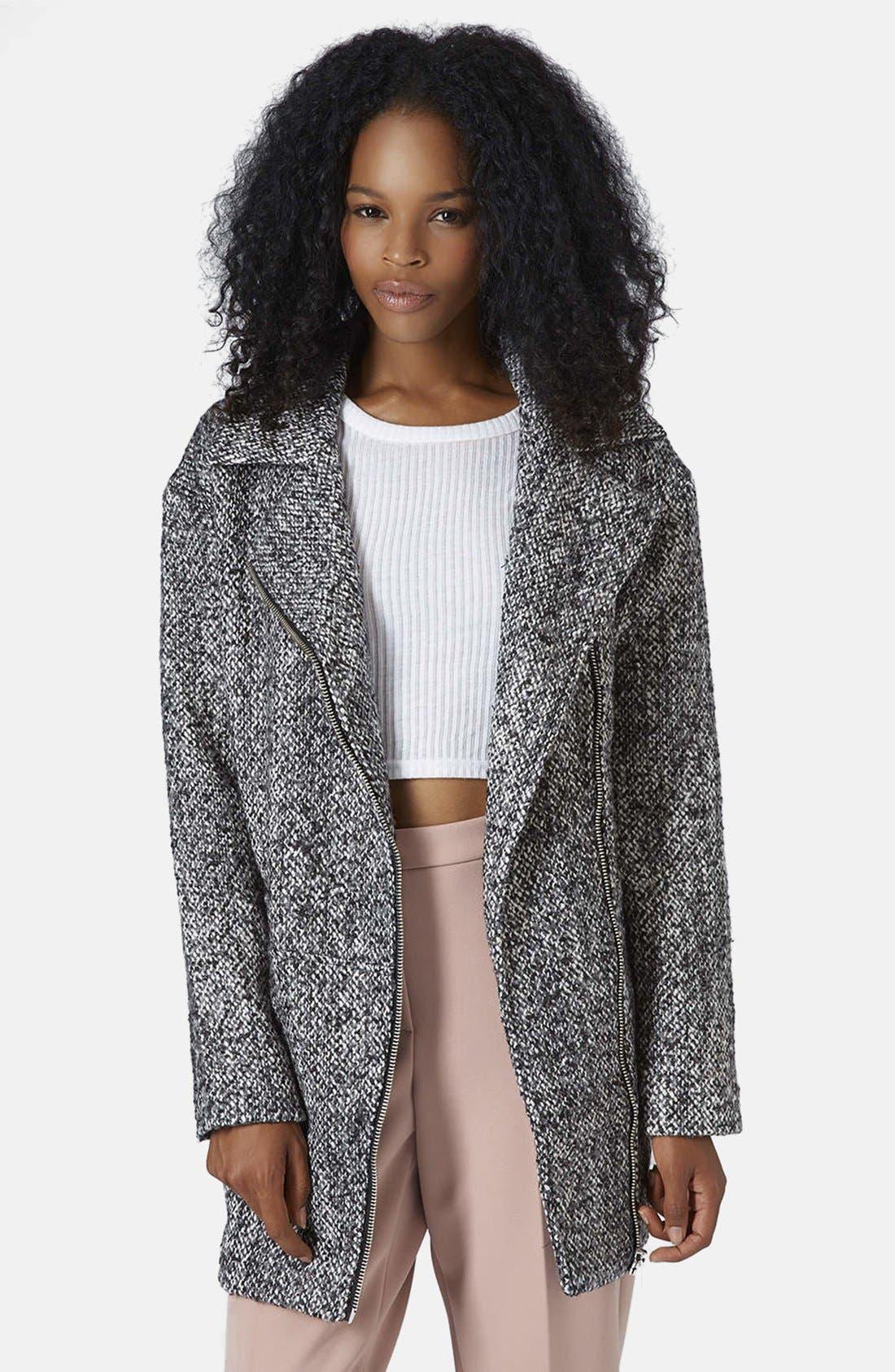 Alternate Image 1 Selected - Topshop Textured Wool Jacket