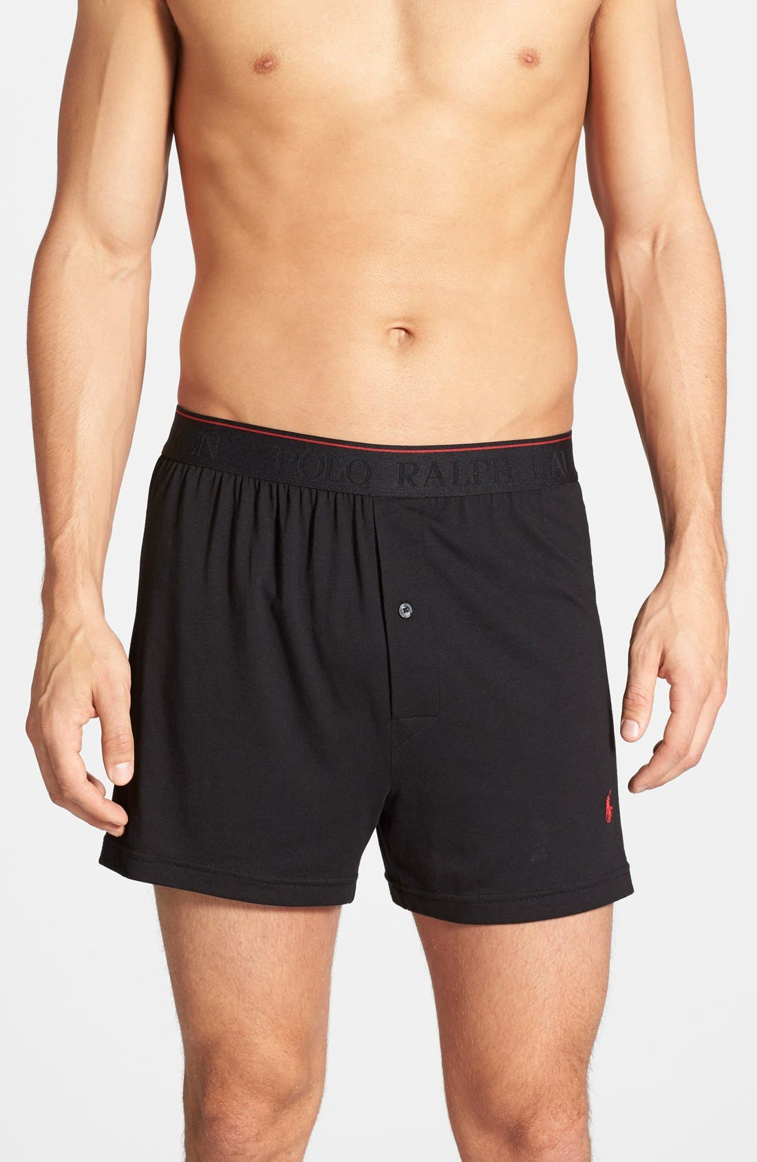 Supreme Comfort 2-Pack Boxers,                             Main thumbnail 1, color,                             Polo Black