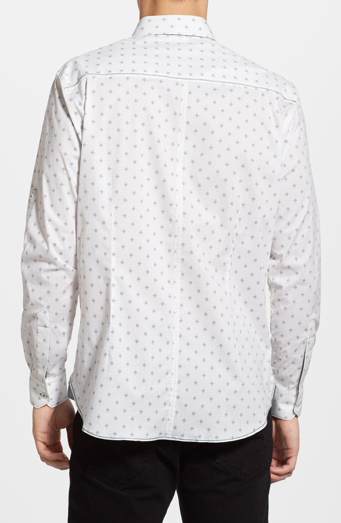 'Reflector' Trim Fit Woven Shirt,                             Alternate thumbnail 2, color,                             White
