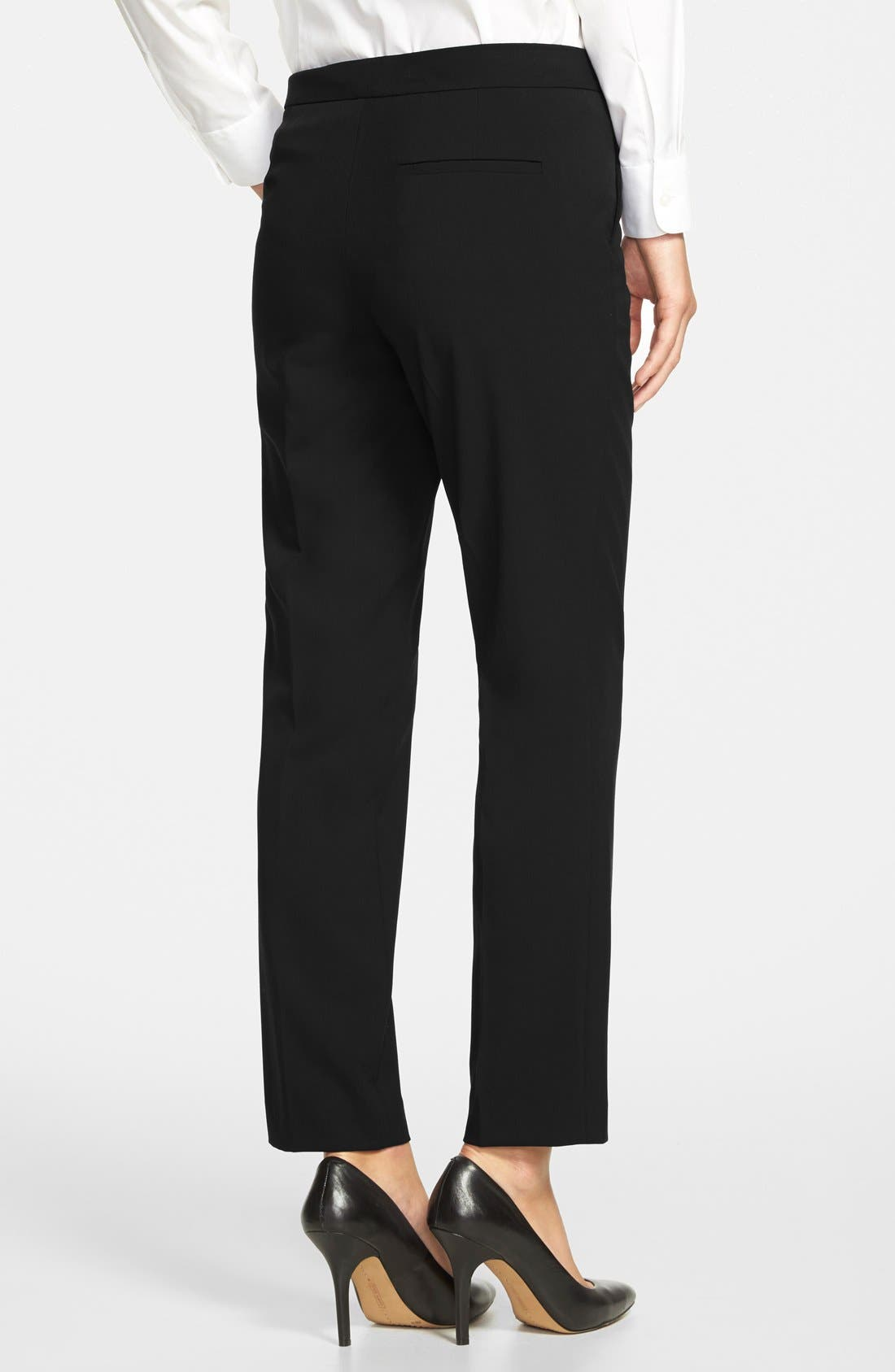 Skinny Ankle Pants,                             Alternate thumbnail 2, color,                             Rich Black