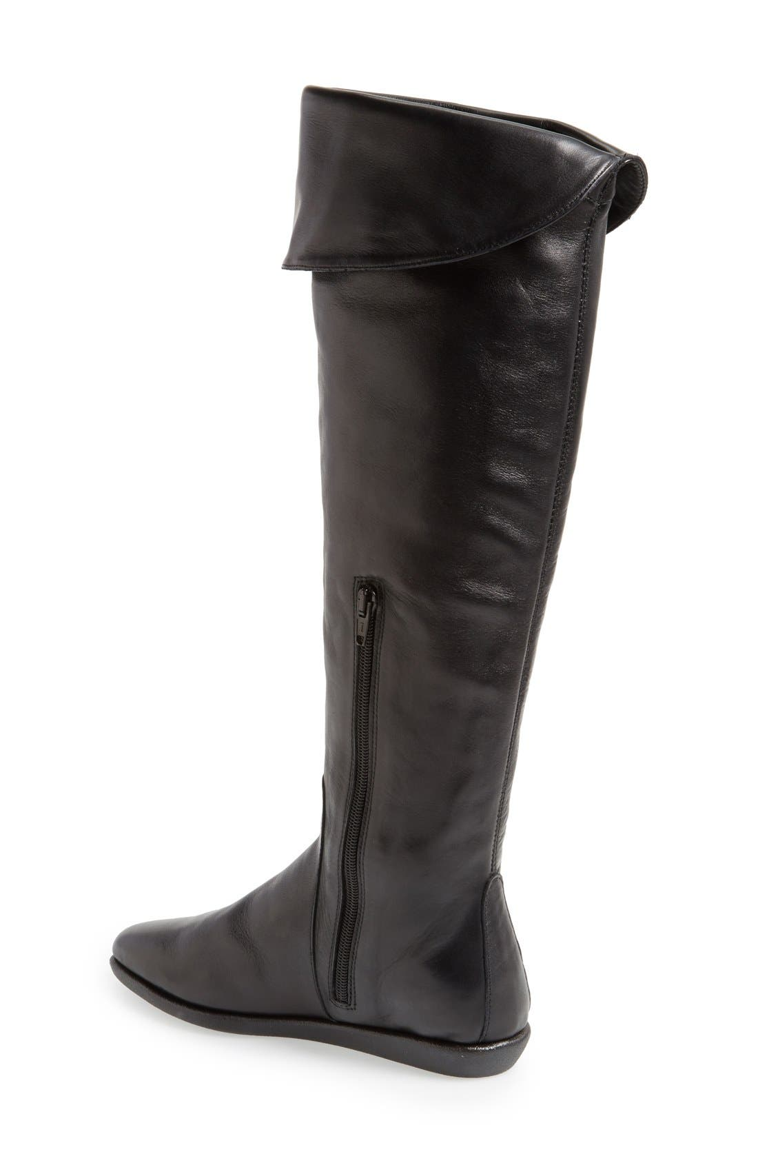 'Senator' Over the Knee Leather Boot,                             Alternate thumbnail 2, color,                             Black Cashmere