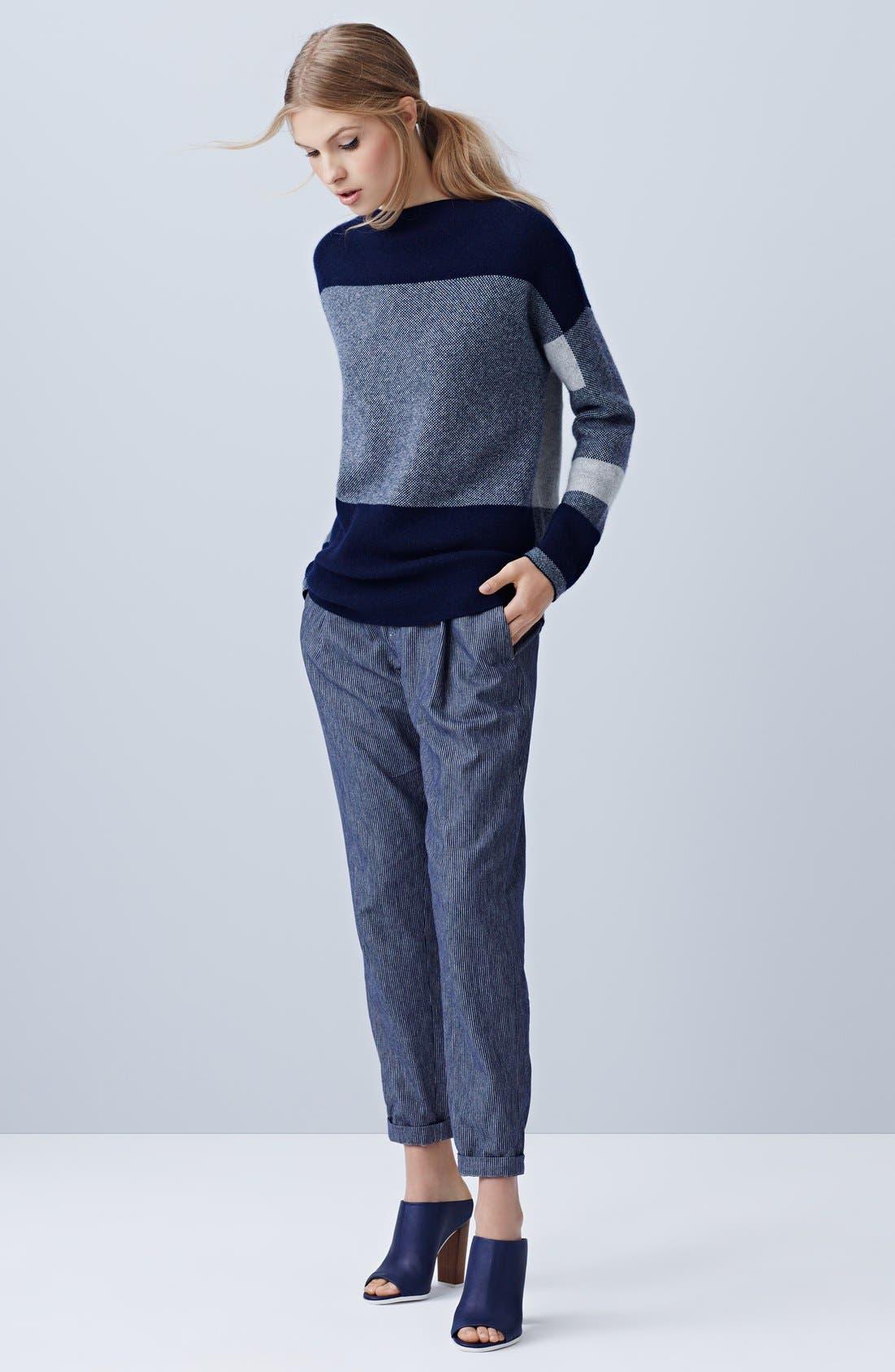 Alternate Image 5  - Vince Intarsia Colorblock Sweater