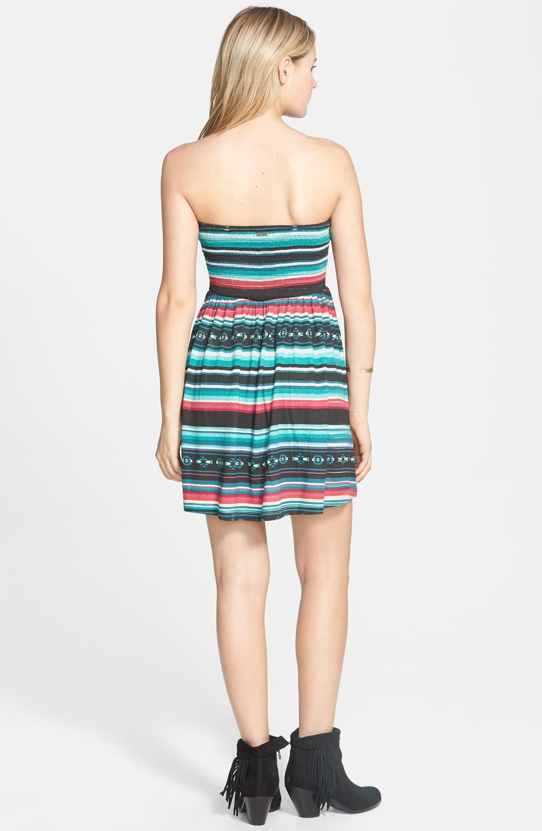 Alternate Image 2  - Billabong 'Spread the News' Print Strapless Dress (Juniors)