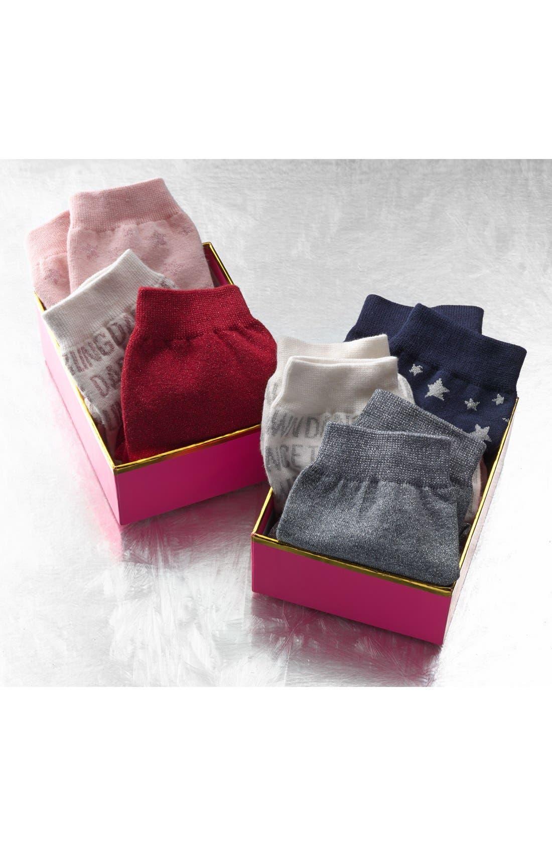 Alternate Image 3  - kate spade new york 'night' boxed socks (3-pack)