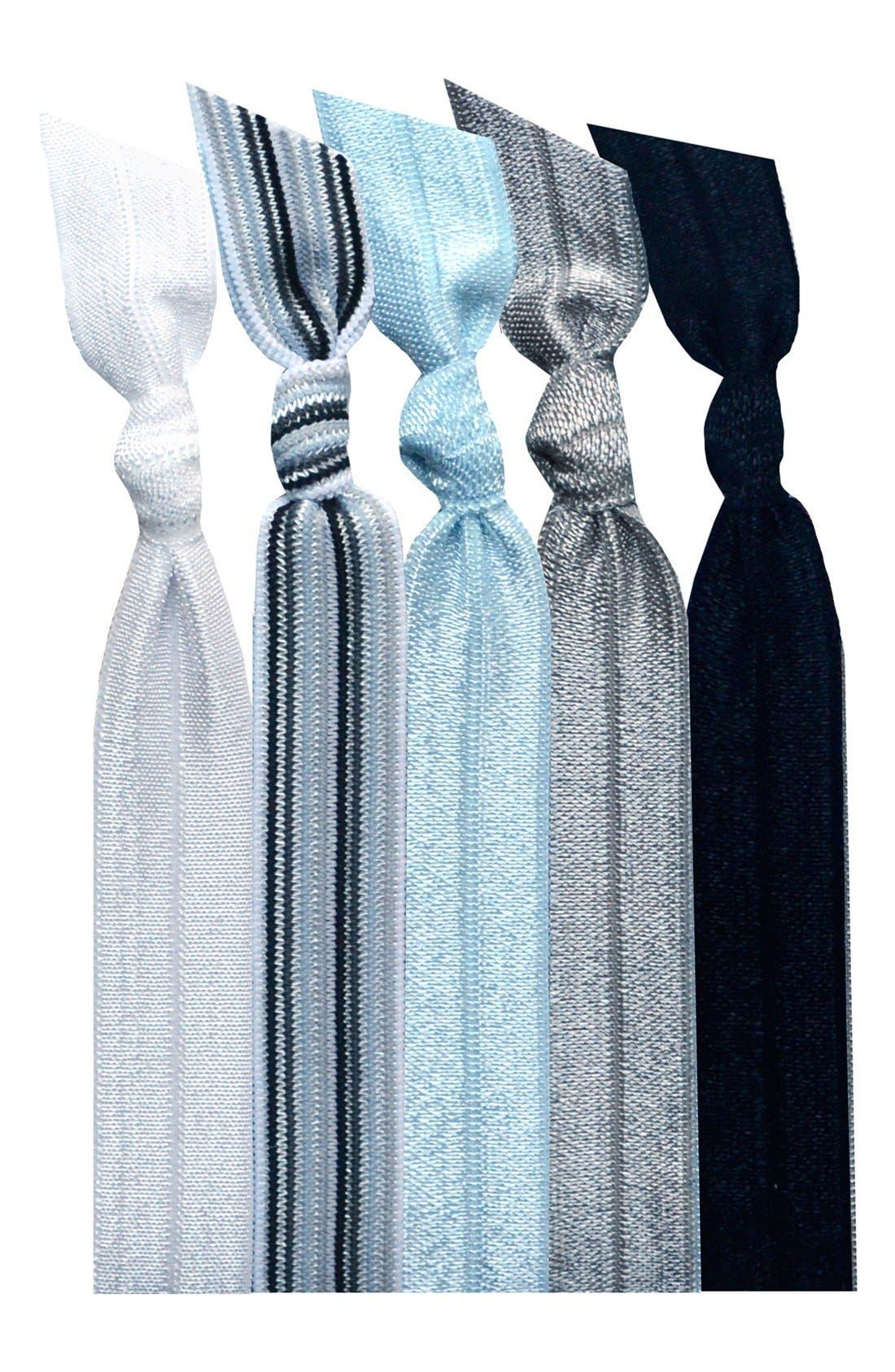 Alternate Image 1 Selected - Emi-Jay 'Grey Stripe' Hair Ties (5-Pack) ($10.80 Value)