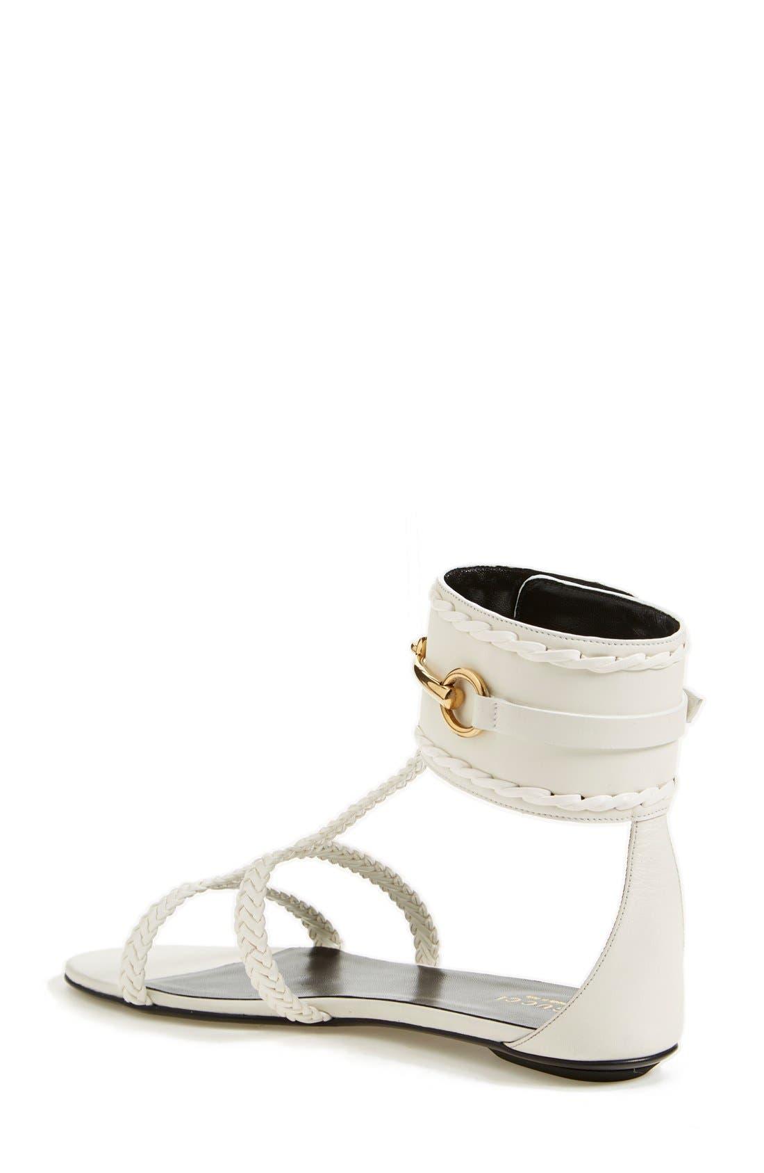 Alternate Image 2  - Gucci 'Ursula' Braided Flat Sandal (Women)