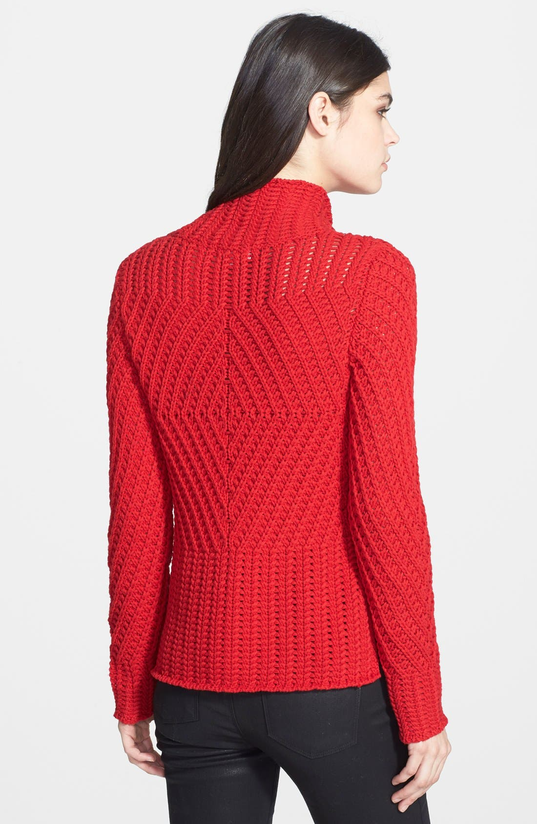 Alternate Image 2  - 1.STATE Funnel Neck Cable Knit Sweater