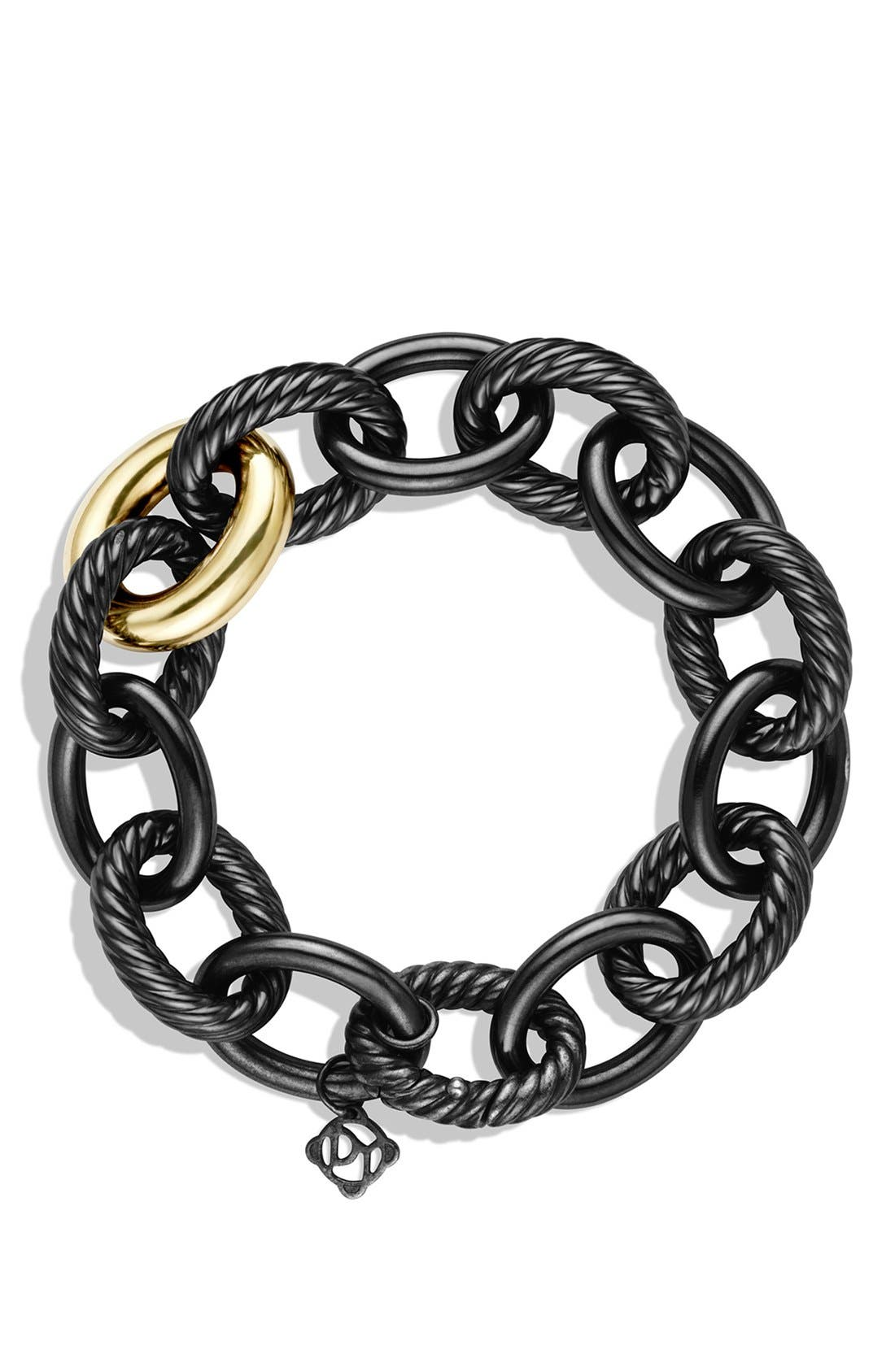 'Oval' Extra-Large Link Bracelet with Gold,                             Alternate thumbnail 2, color,                             Two Tone