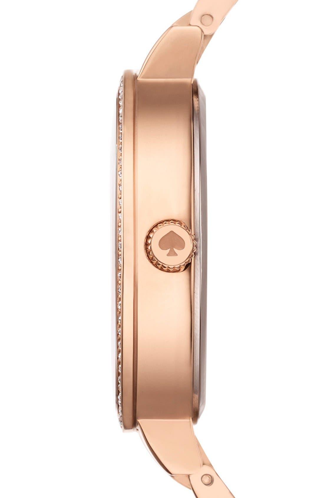 Alternate Image 3  - kate spade new york 'gramercy' crystal bezel bracelet watch, 34mm
