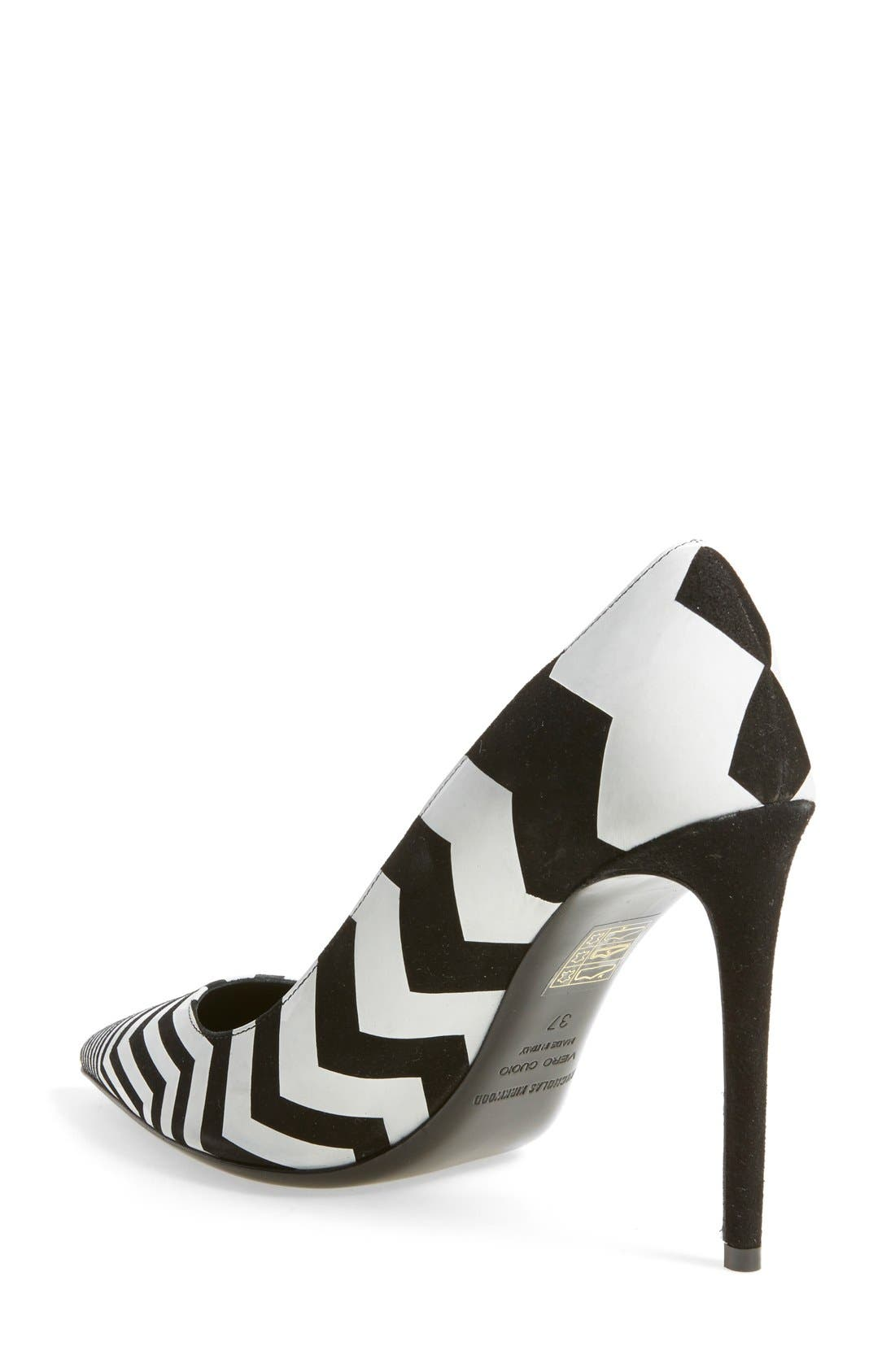 Alternate Image 2  - Nicholas Kirkwood Chevron Pointy Toe Pump (Women)