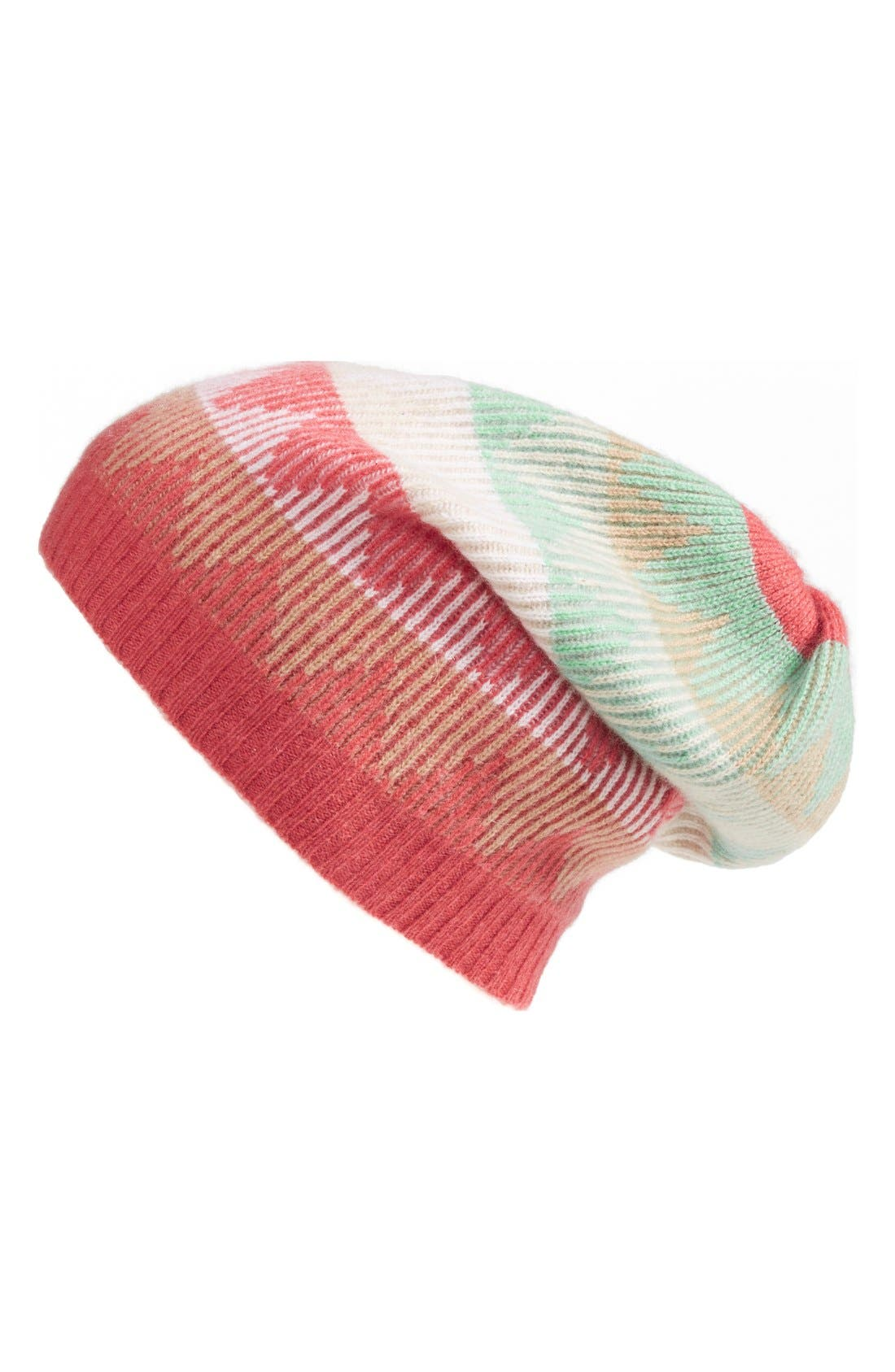 Main Image - Made of Me Zigzag Slouchy Cashmere Beanie