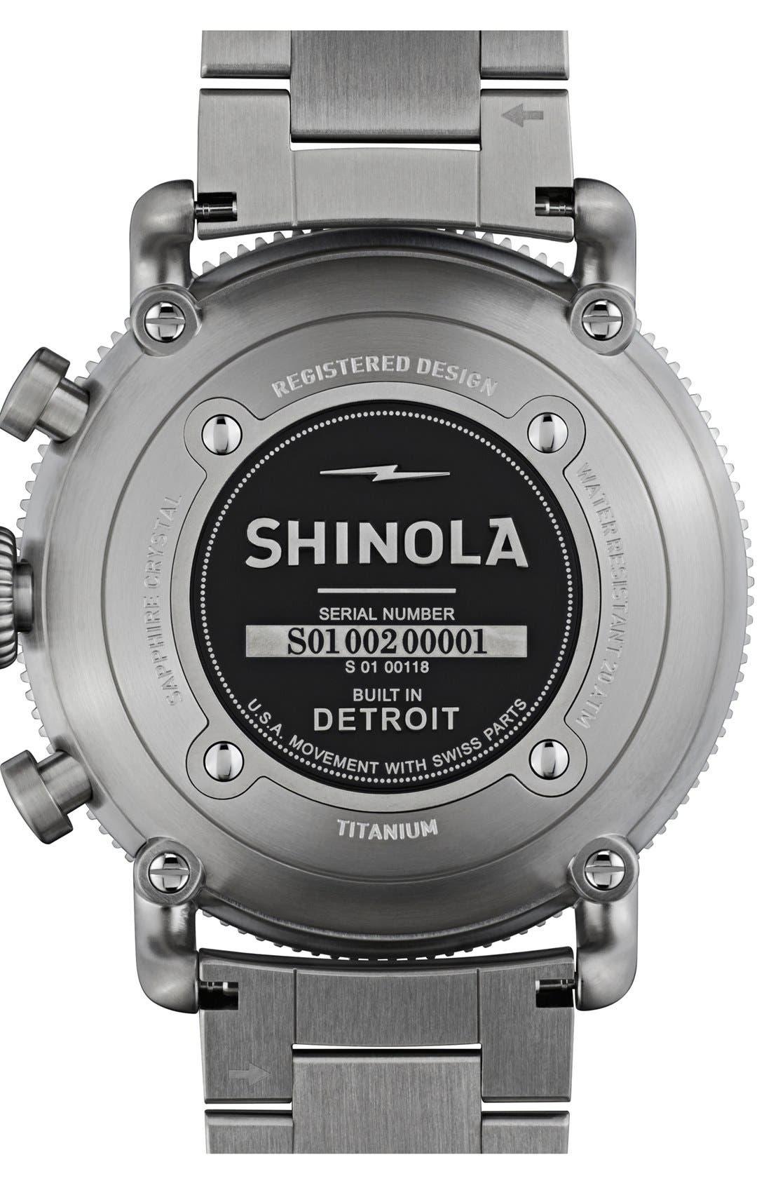 Alternate Image 4  - Shinola 'The Black Blizzard' Chronograph Interchangeable Strap Watch, 48mm (Limited Edition)