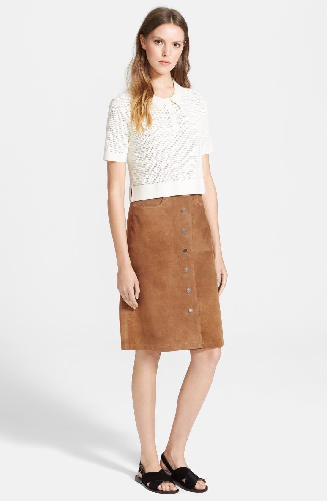 Alternate Image 4  - Theory 'Pemma' Suede Midi Skirt