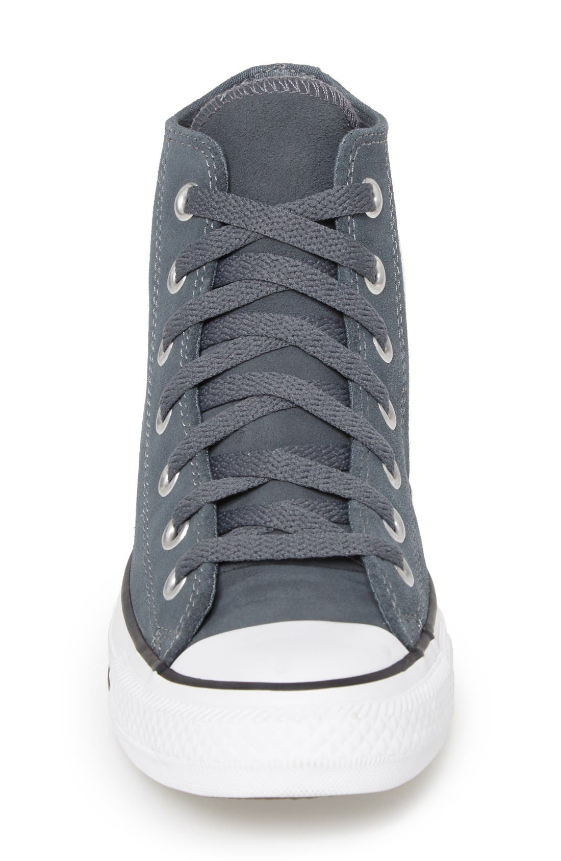 Alternate Image 2  - Converse Chuck Taylor® All Star® Suede High Top Sneaker (Women)