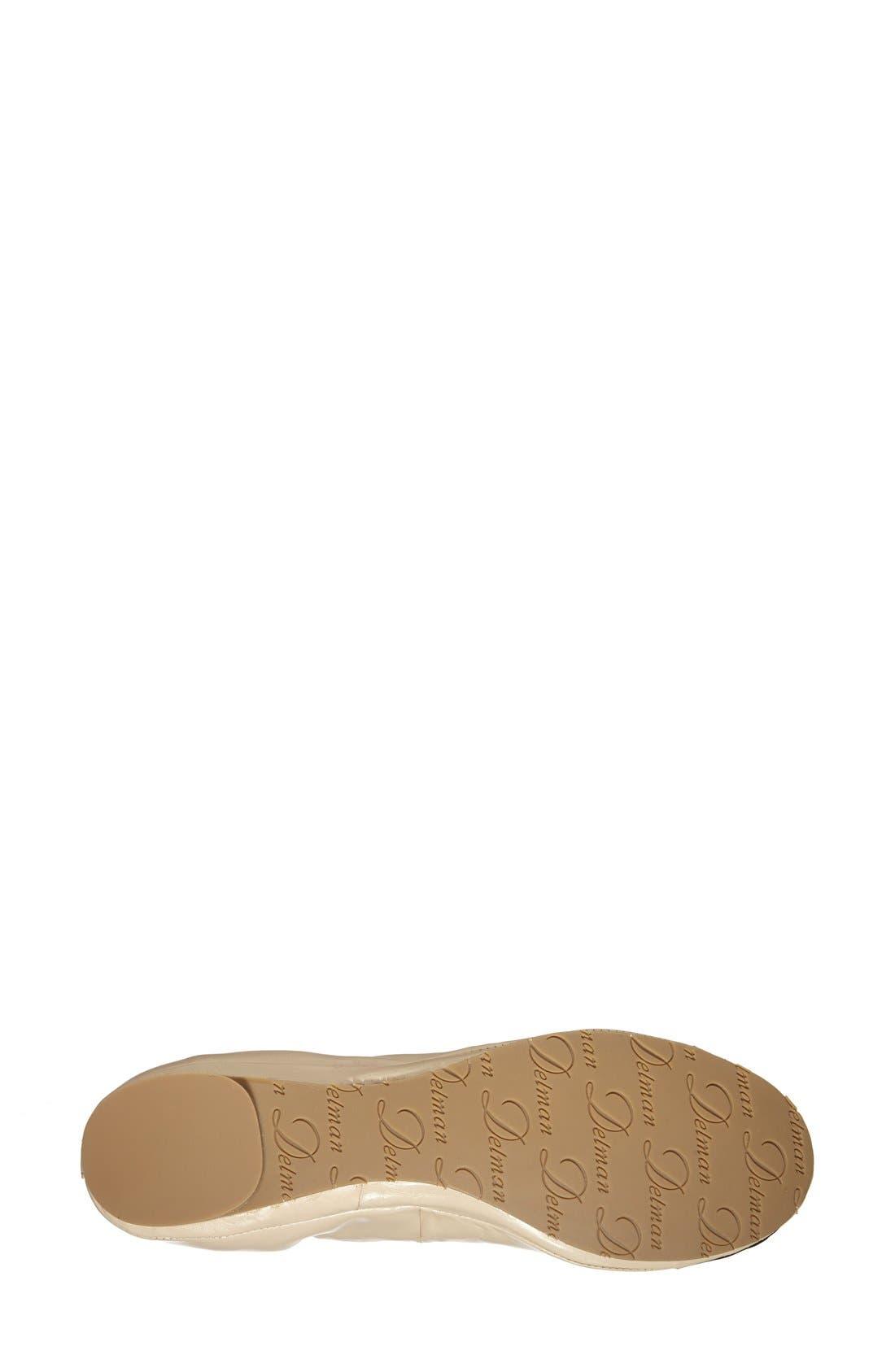Alternate Image 4  - Delman 'Maya' Skimmer Flat (Women)