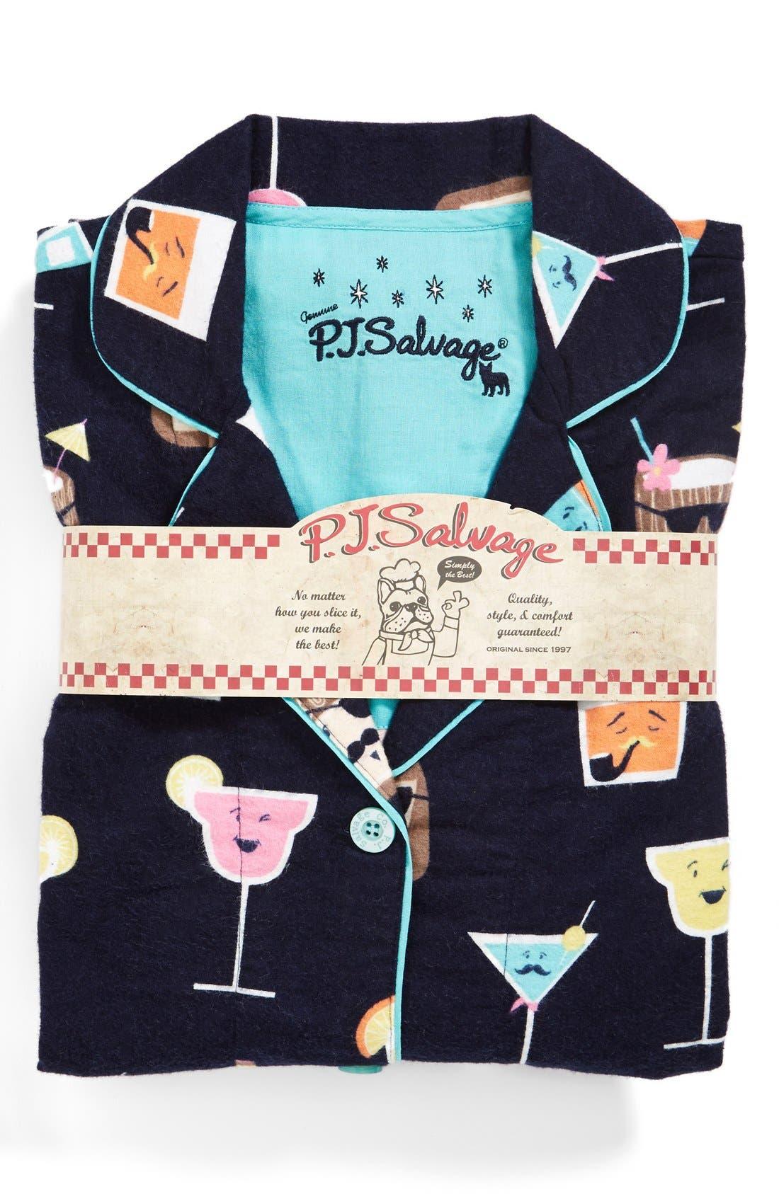 Alternate Image 1 Selected - PJ Salvage 'Fall into Flannel' Pajamas