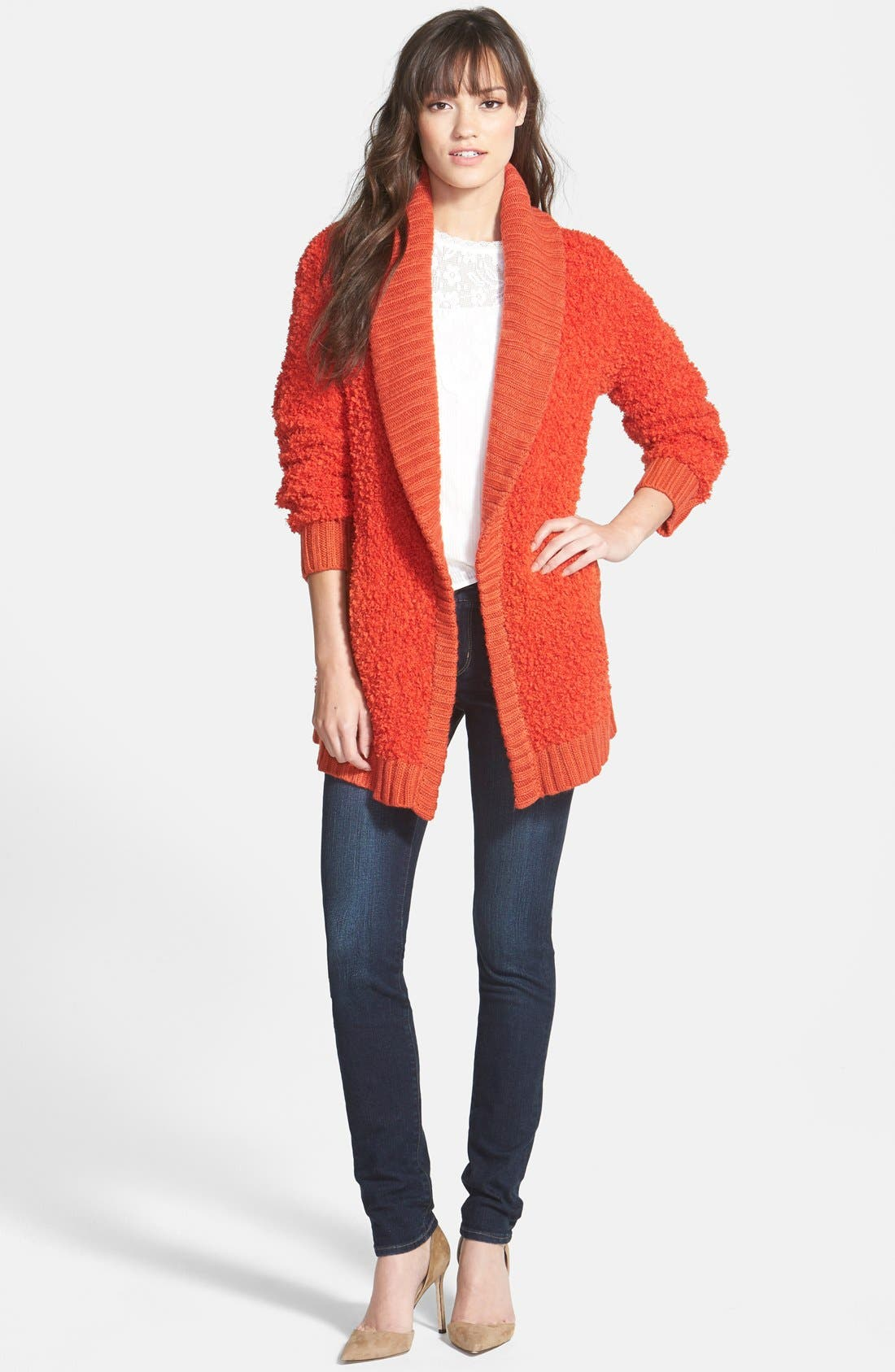 Alternate Image 4  - Hinge 'Poodle' Shawl Collar Cardigan
