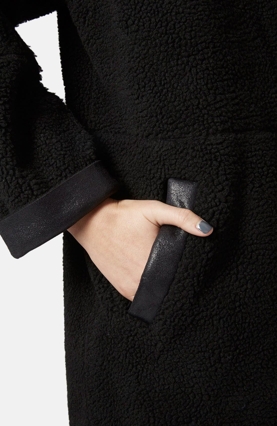 Alternate Image 4  - Topshop Faux Shearling Cocoon Jacket