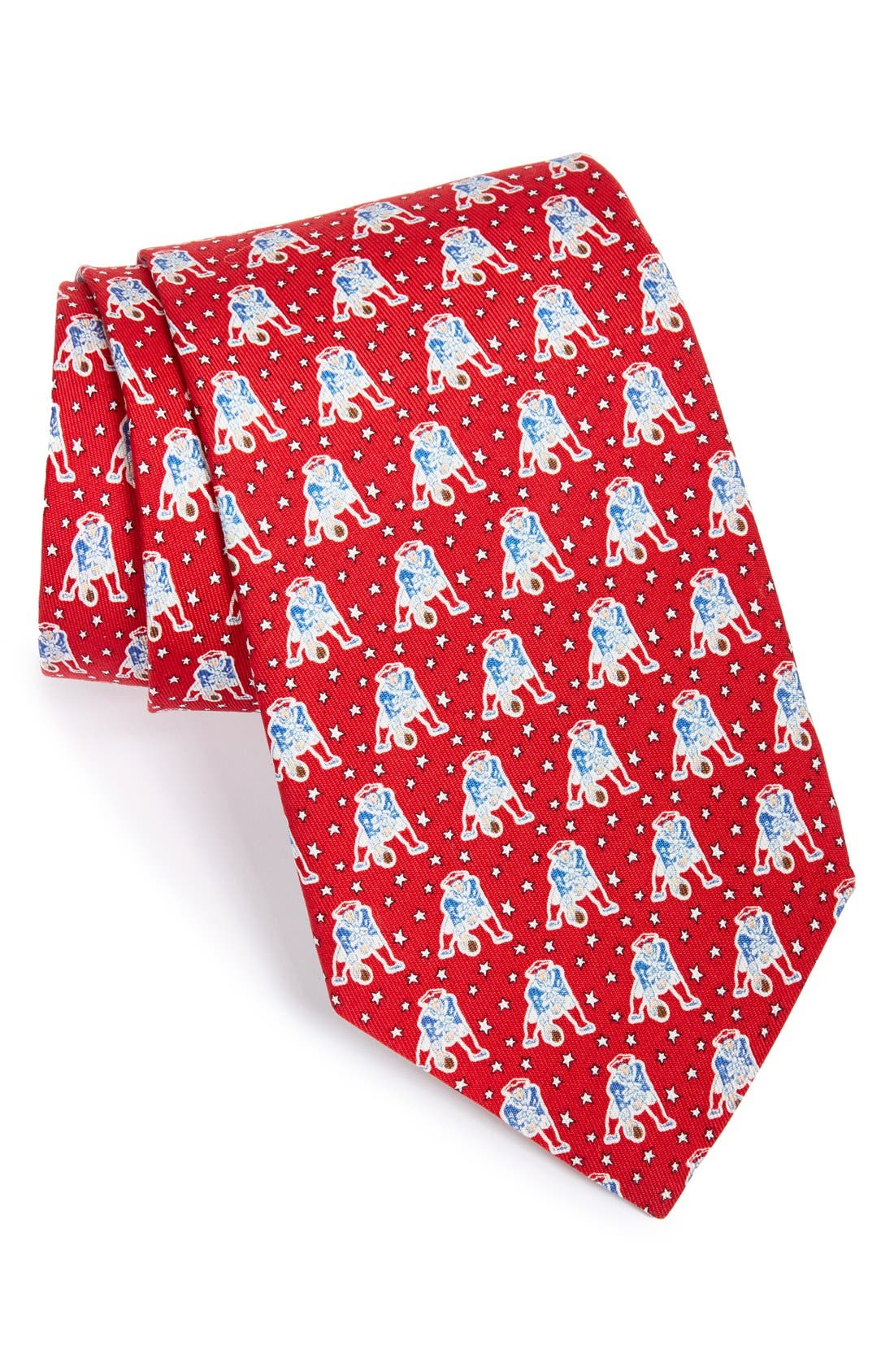 New England Patriots NFL Silk Tie,                             Main thumbnail 1, color,                             Red